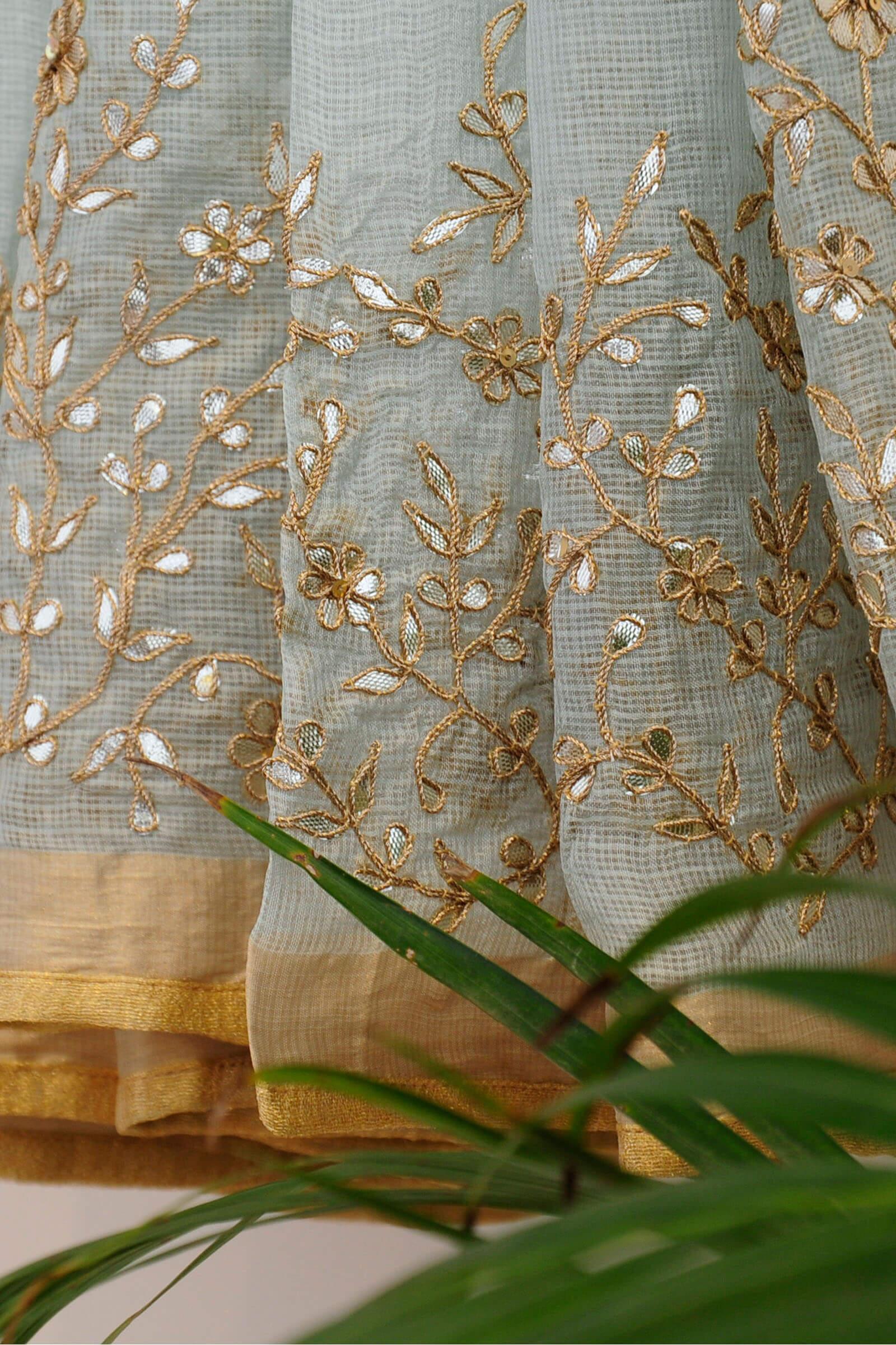Floral Gota Mint