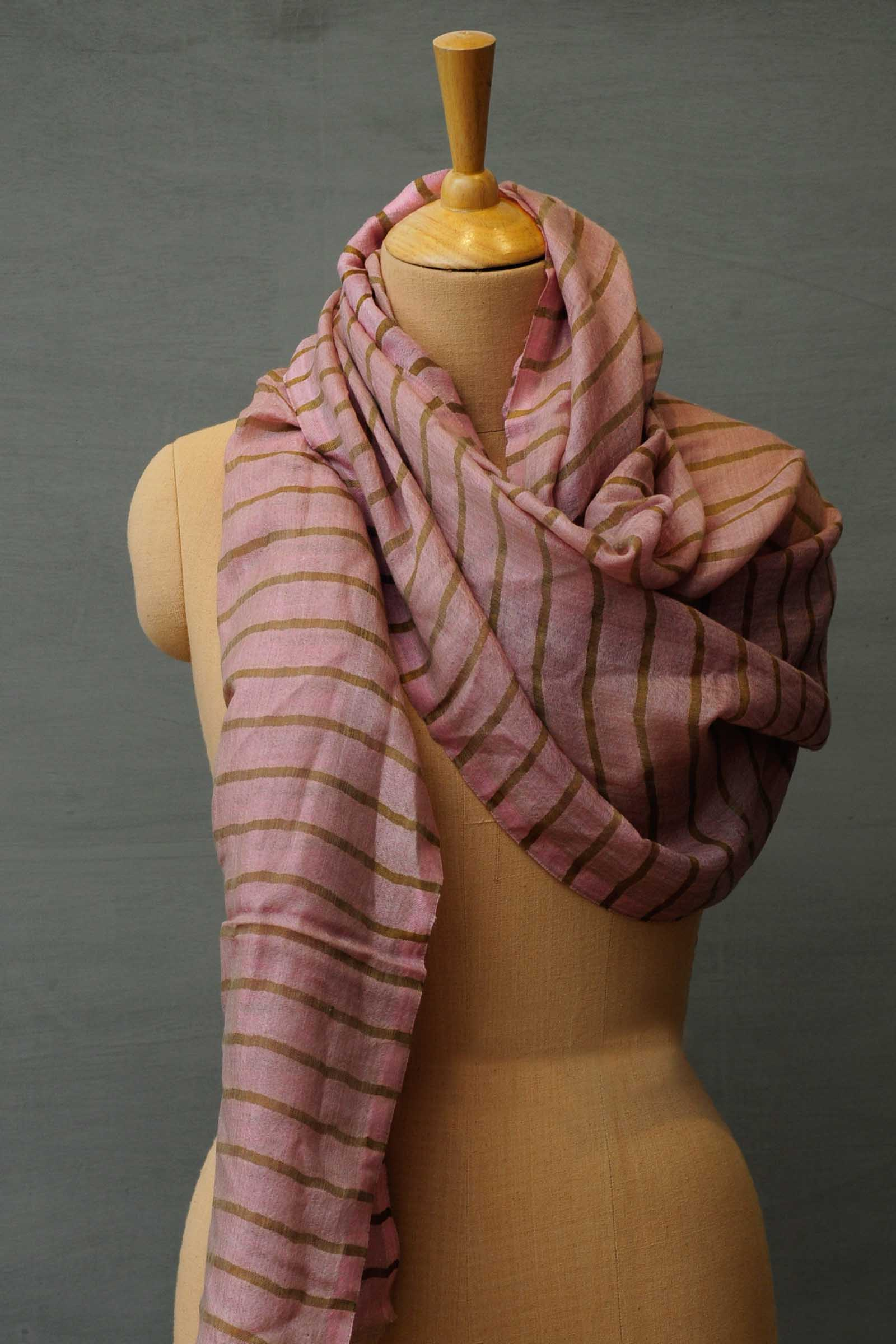 Streaks Of Gold Pink Stole