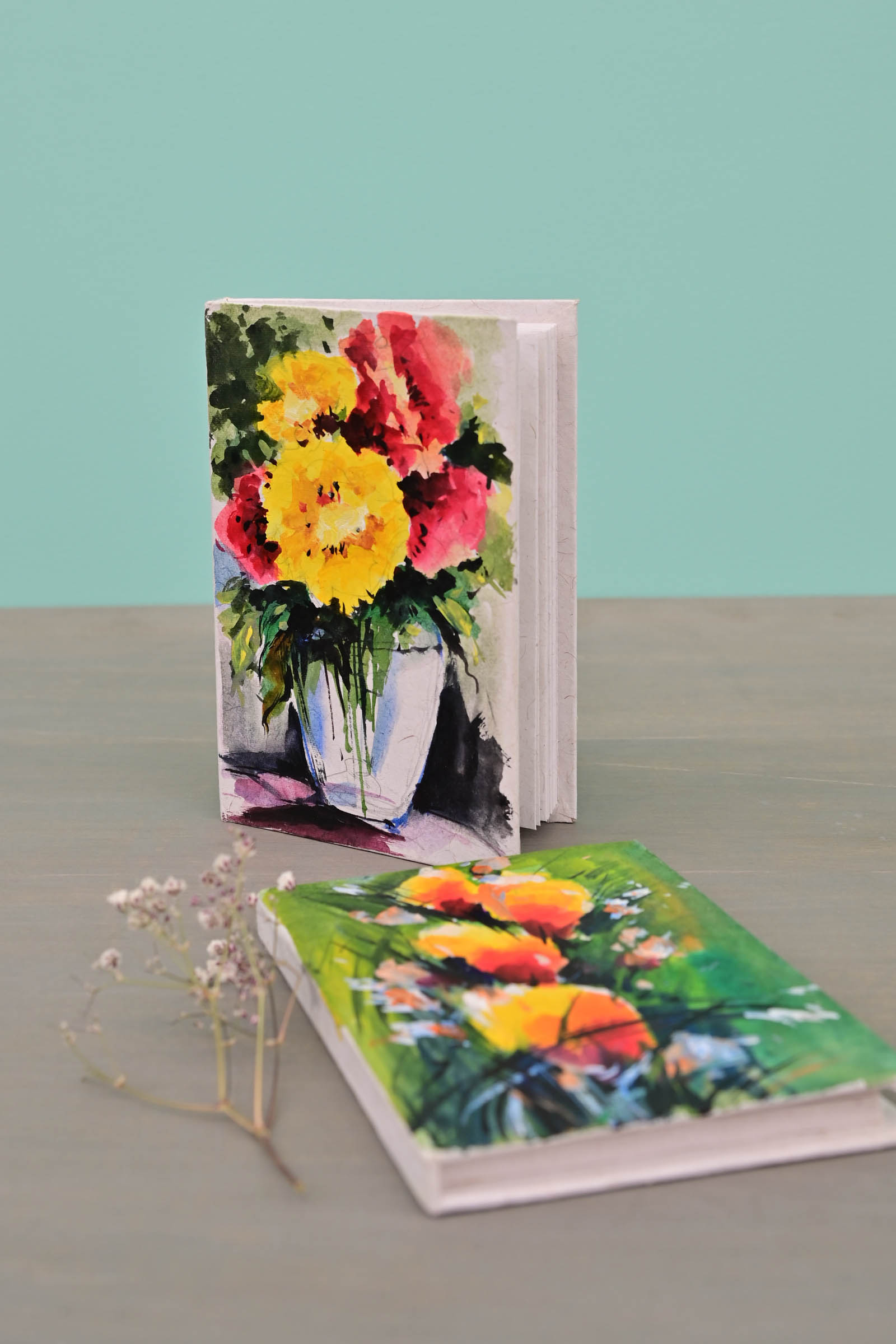 Pocket Diary Florals  Set Of 2