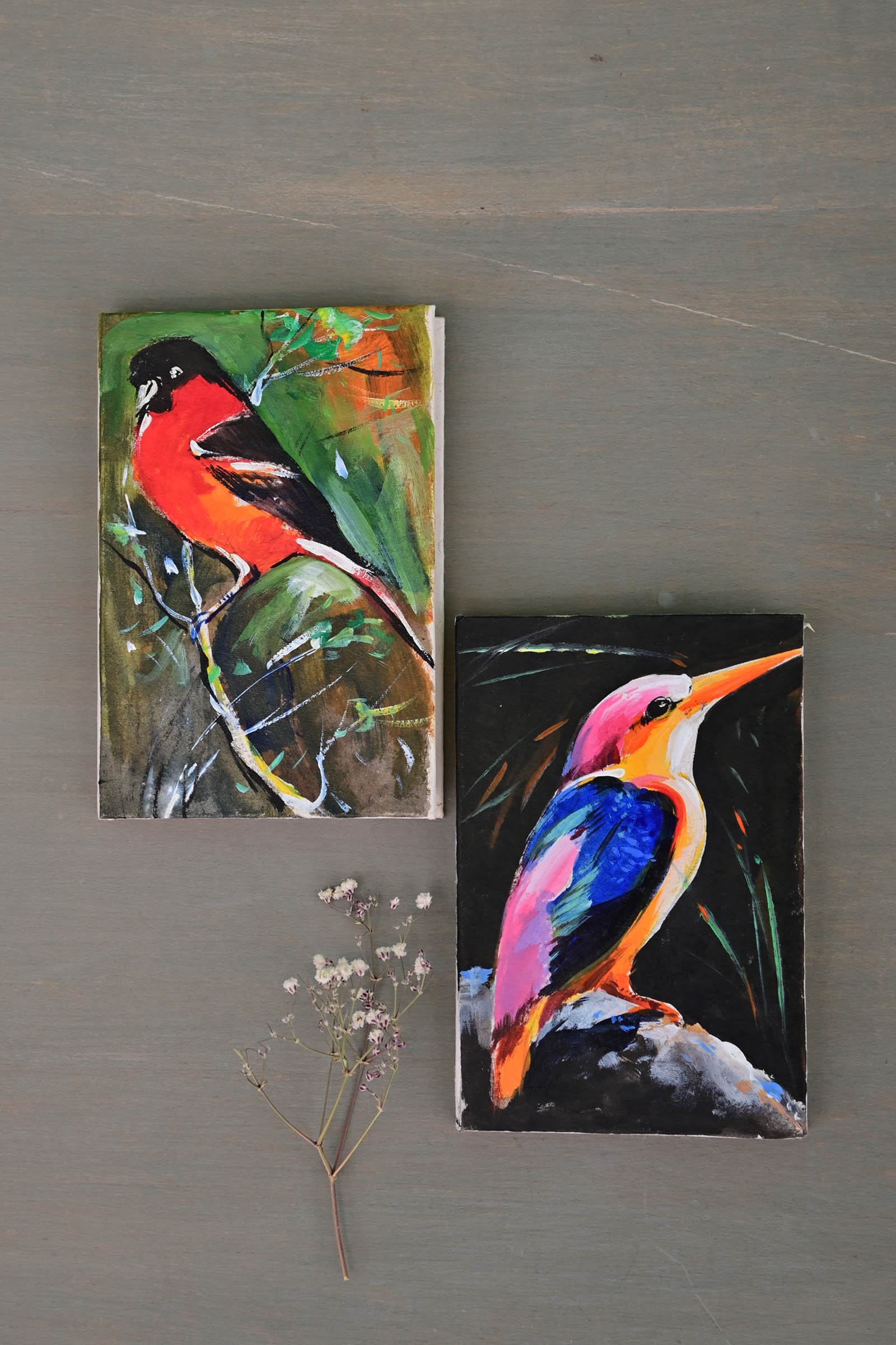 Pocket Diary Birds Set Of 2