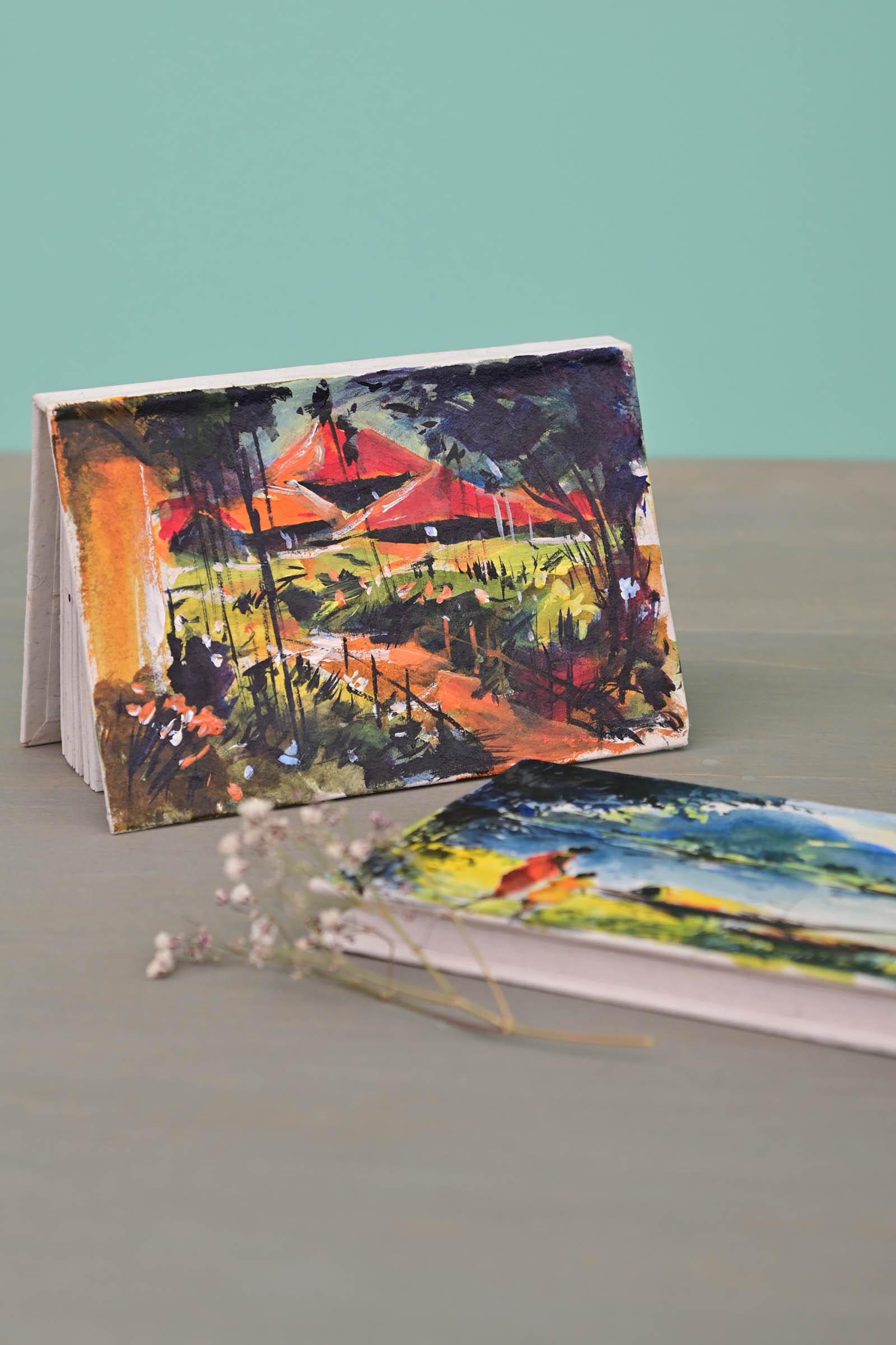 Pocket Diary Scenery Set Of 2