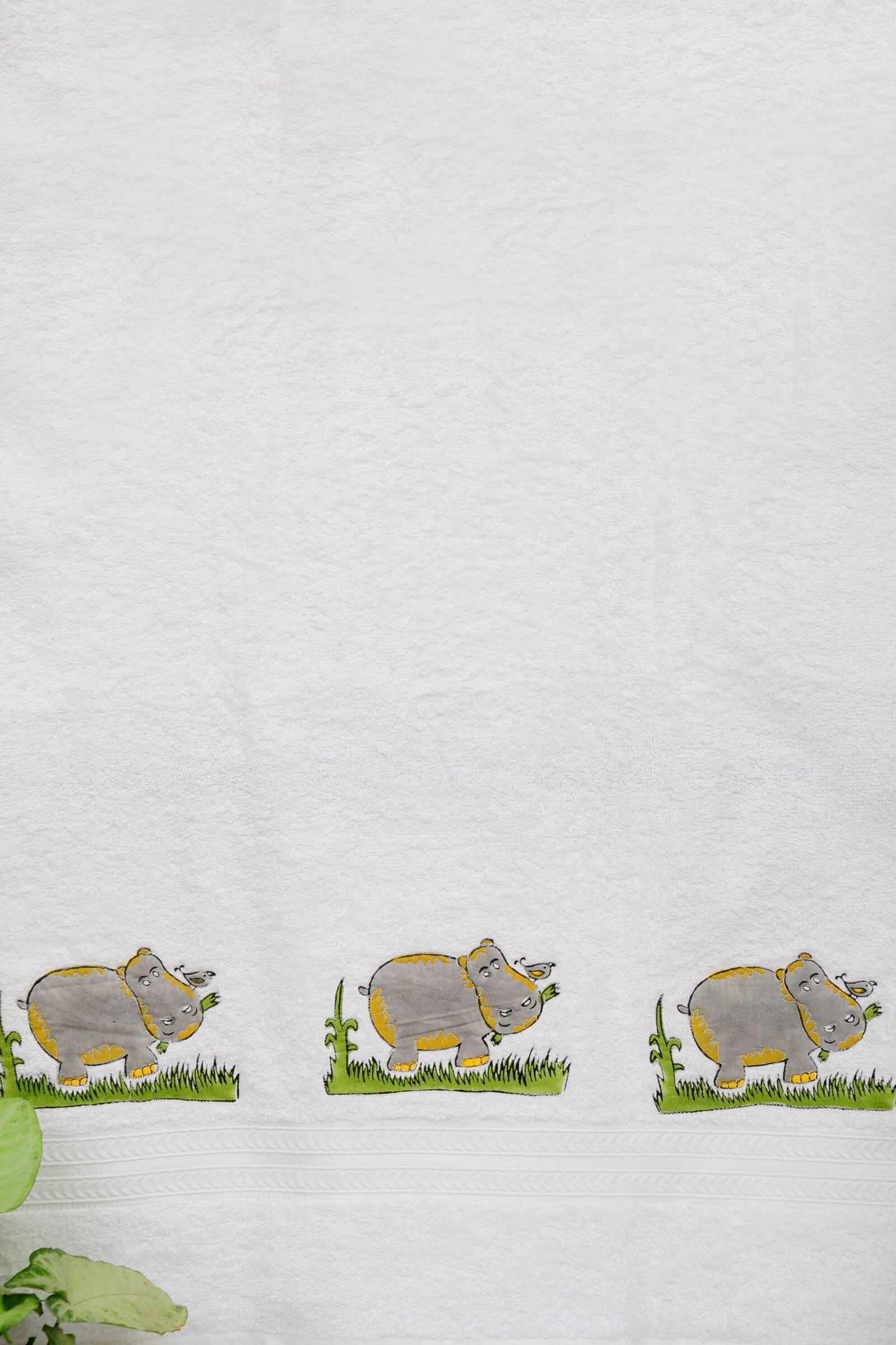 Hippo In The Grass Towel