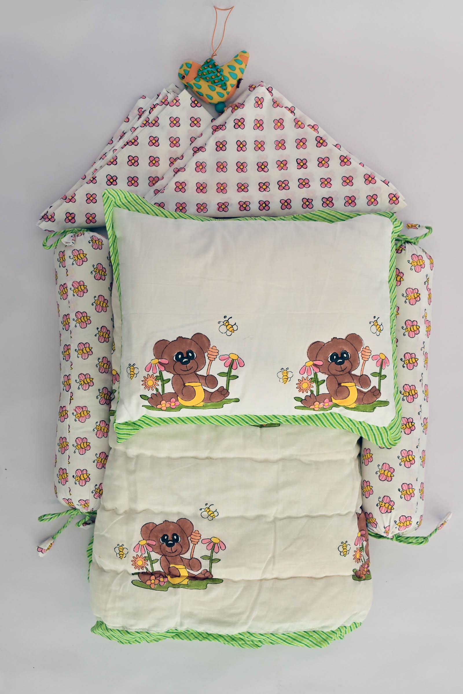 Honey Bear Crib Set