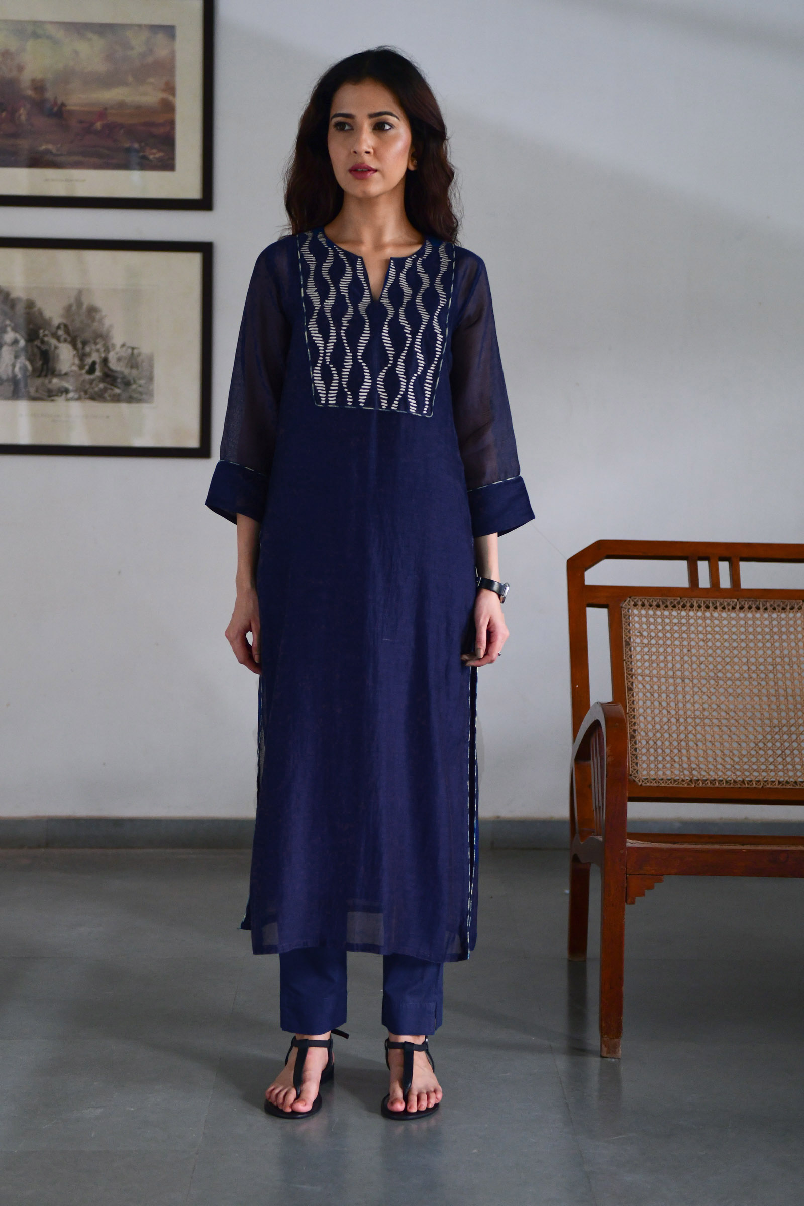 Indigo Waves Kurta