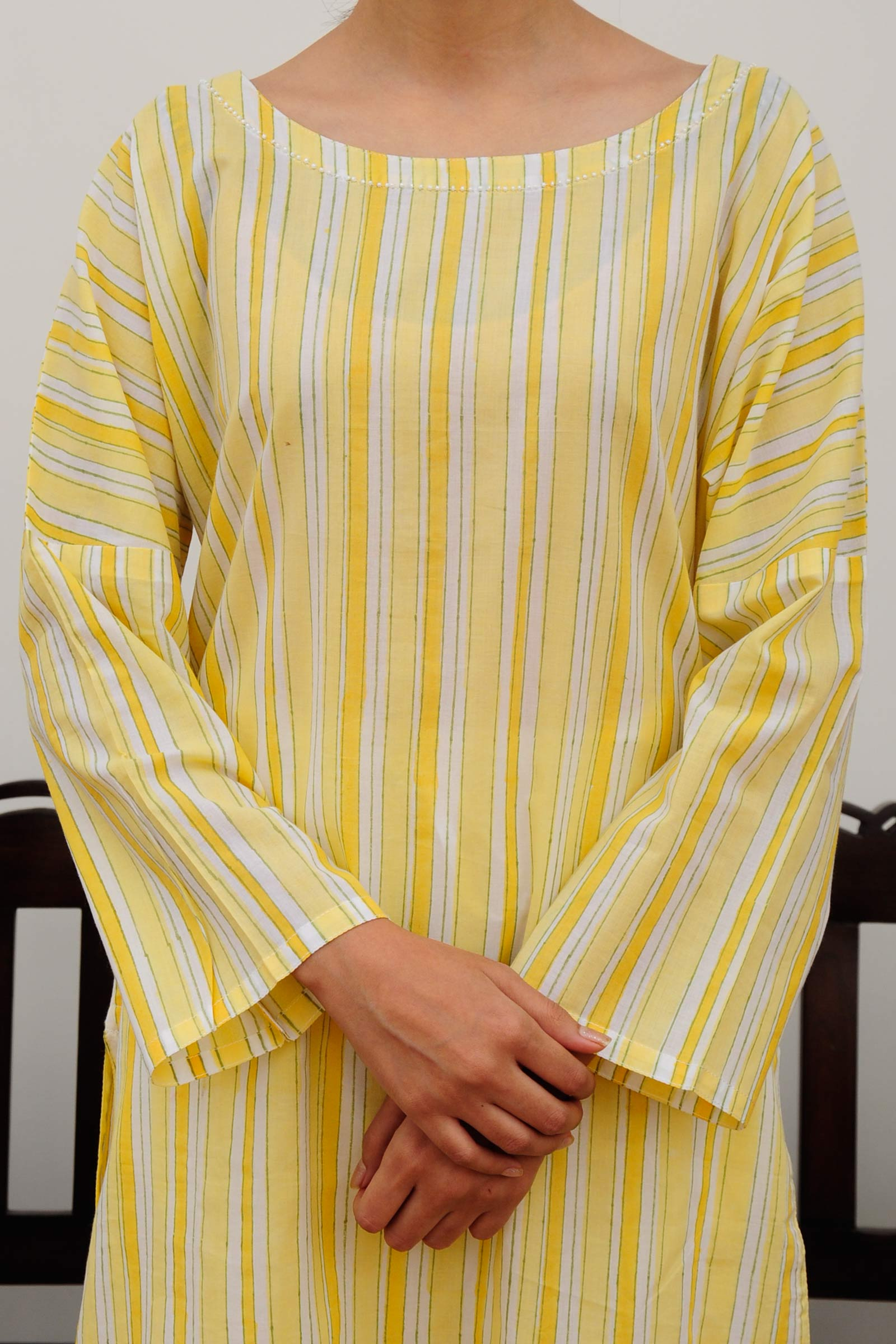 Desert Lines Cotton Kurta