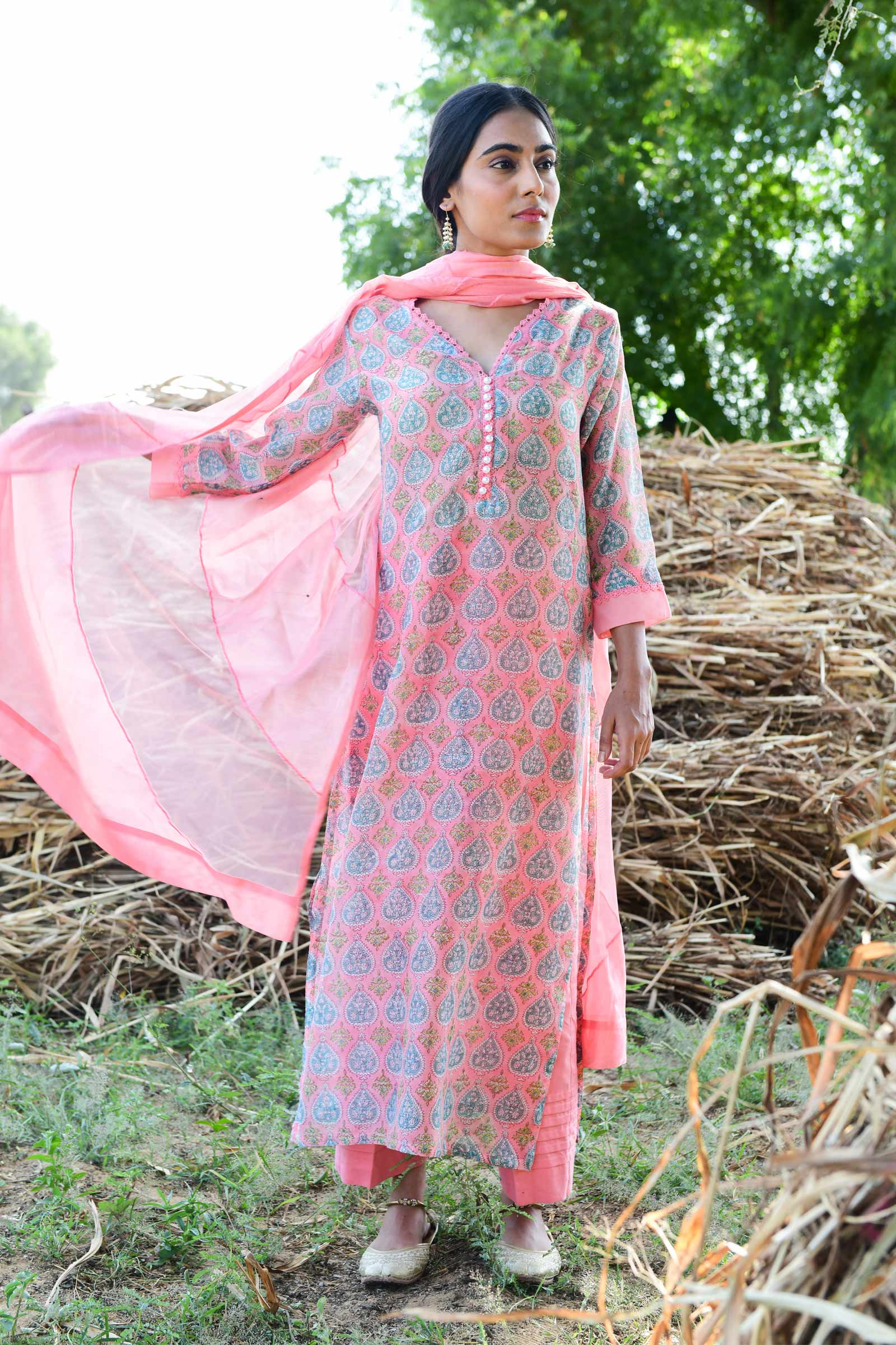 Persian Peacock Kurta