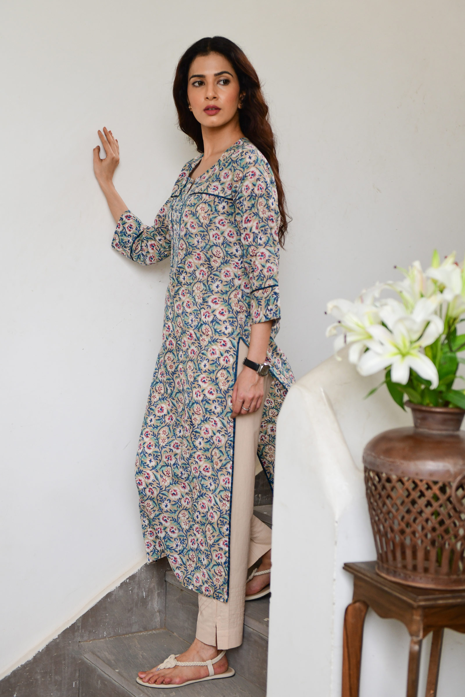 Muddy Flowers Kurta