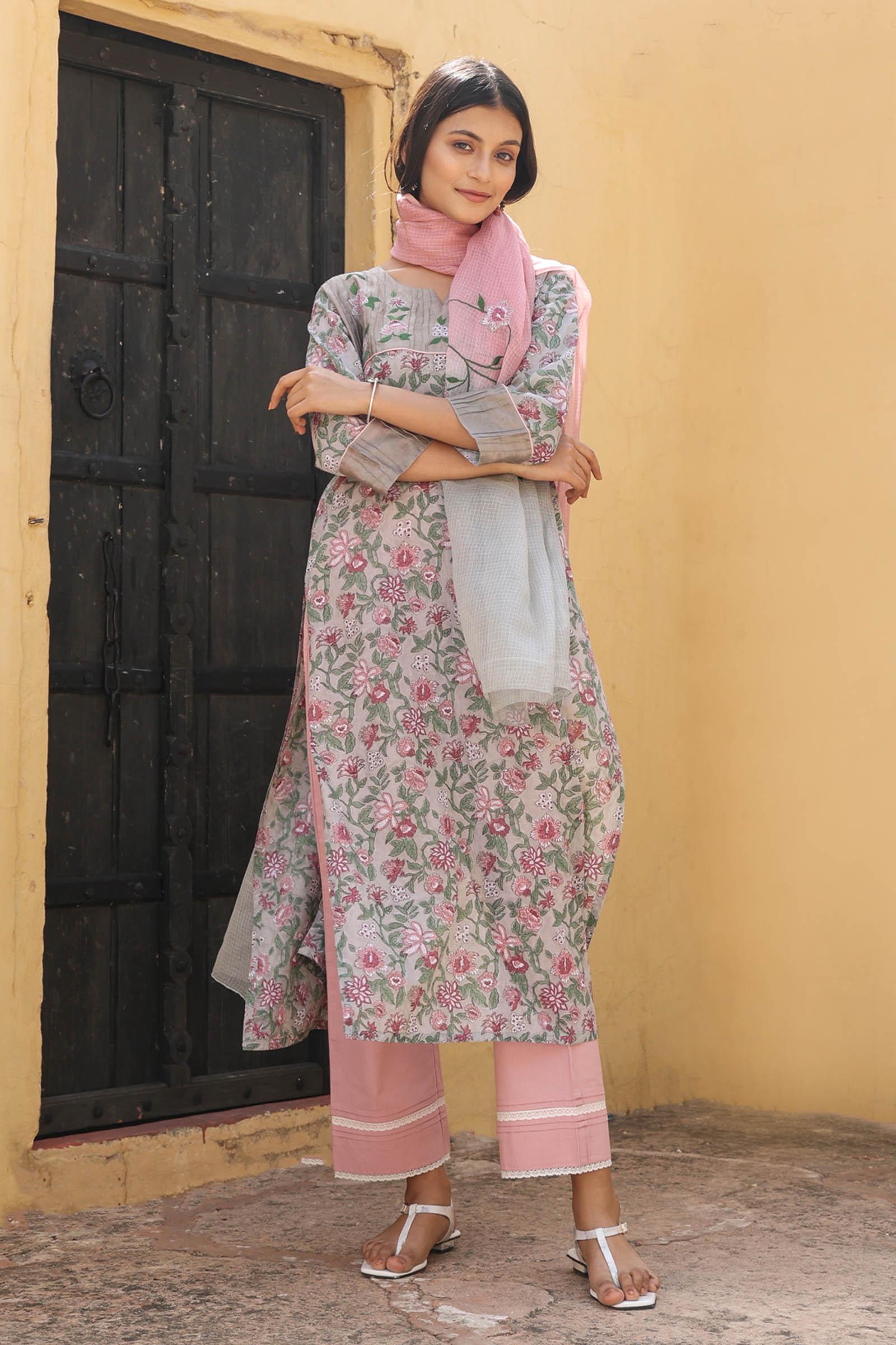 Pretty In Pink Voil Kurta