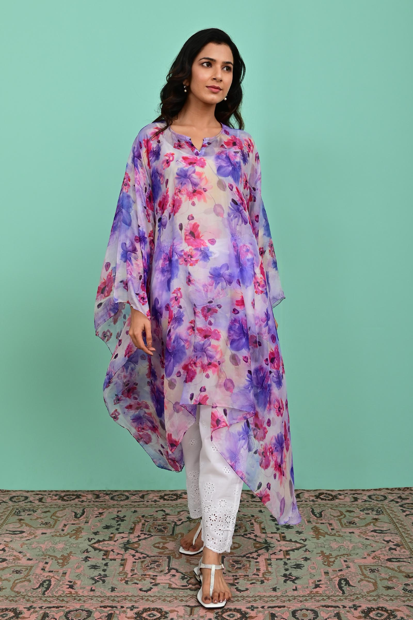 Lavender Silk Kaftan