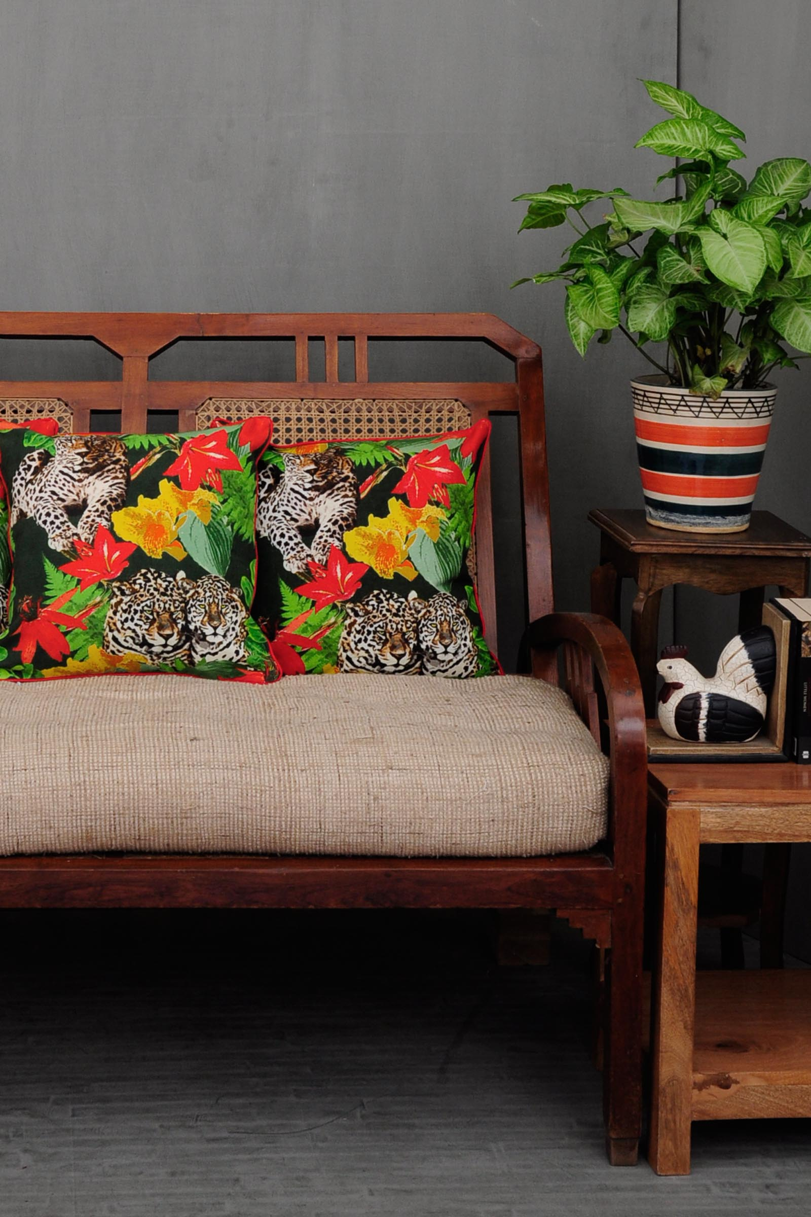 Chintz Jungle Safari 16*16 Cushion Cover