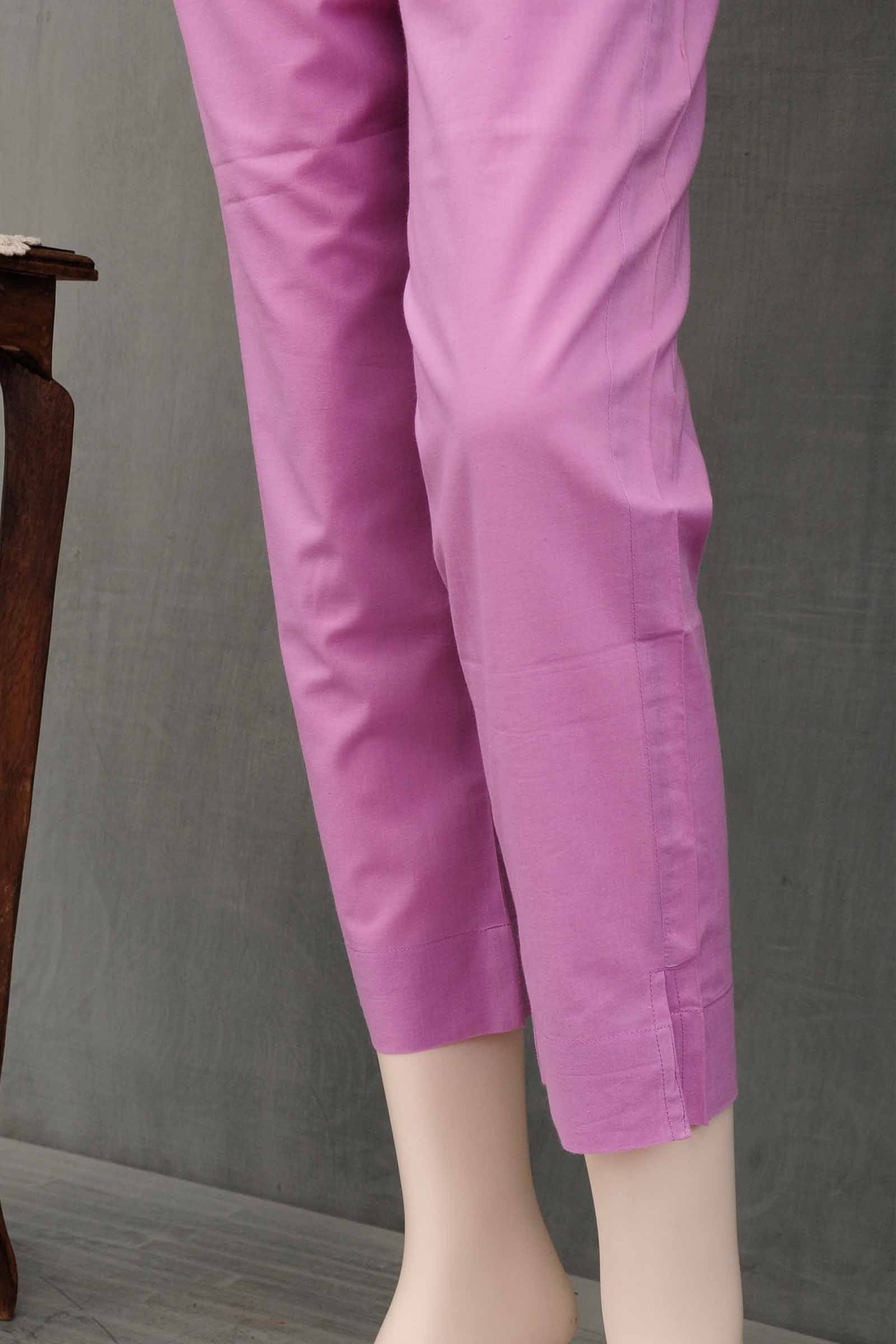 Lime Stone Cotton Cigarette Pant