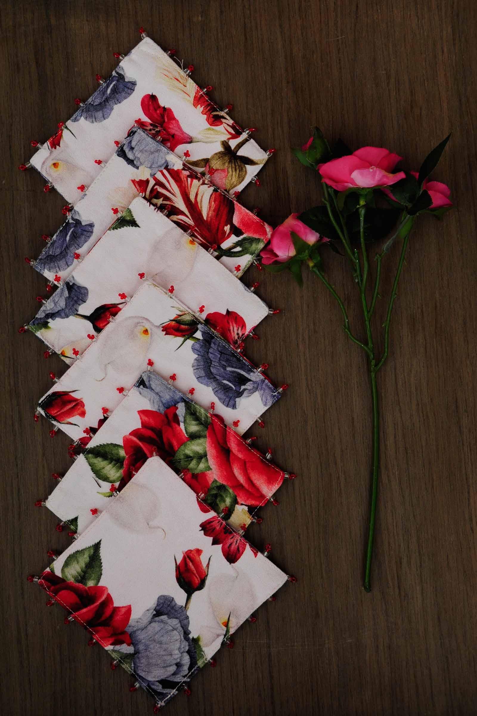 Mini Bouquet Chintz Coaster Set Of 6