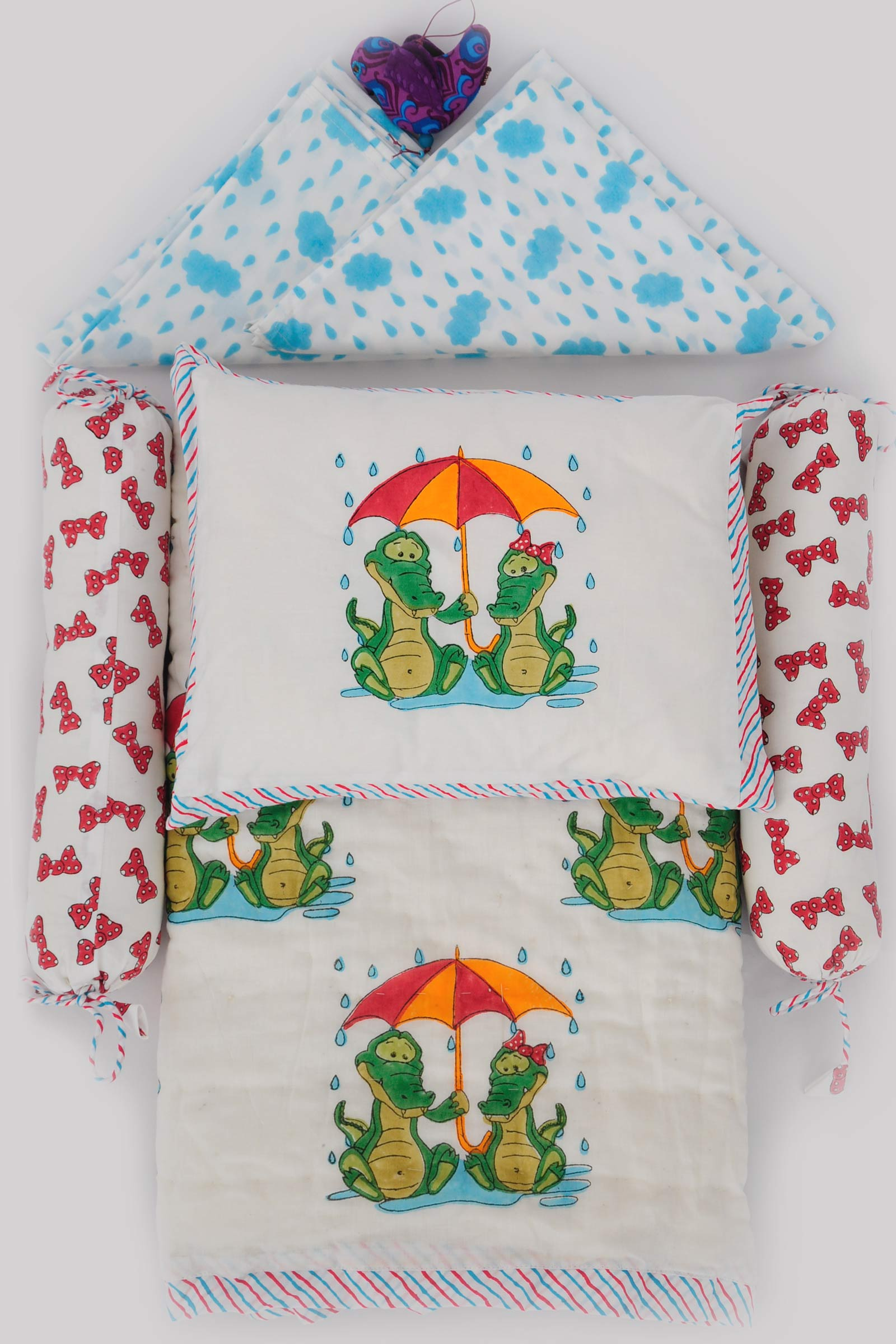 Monsoon Crocs Crib Set