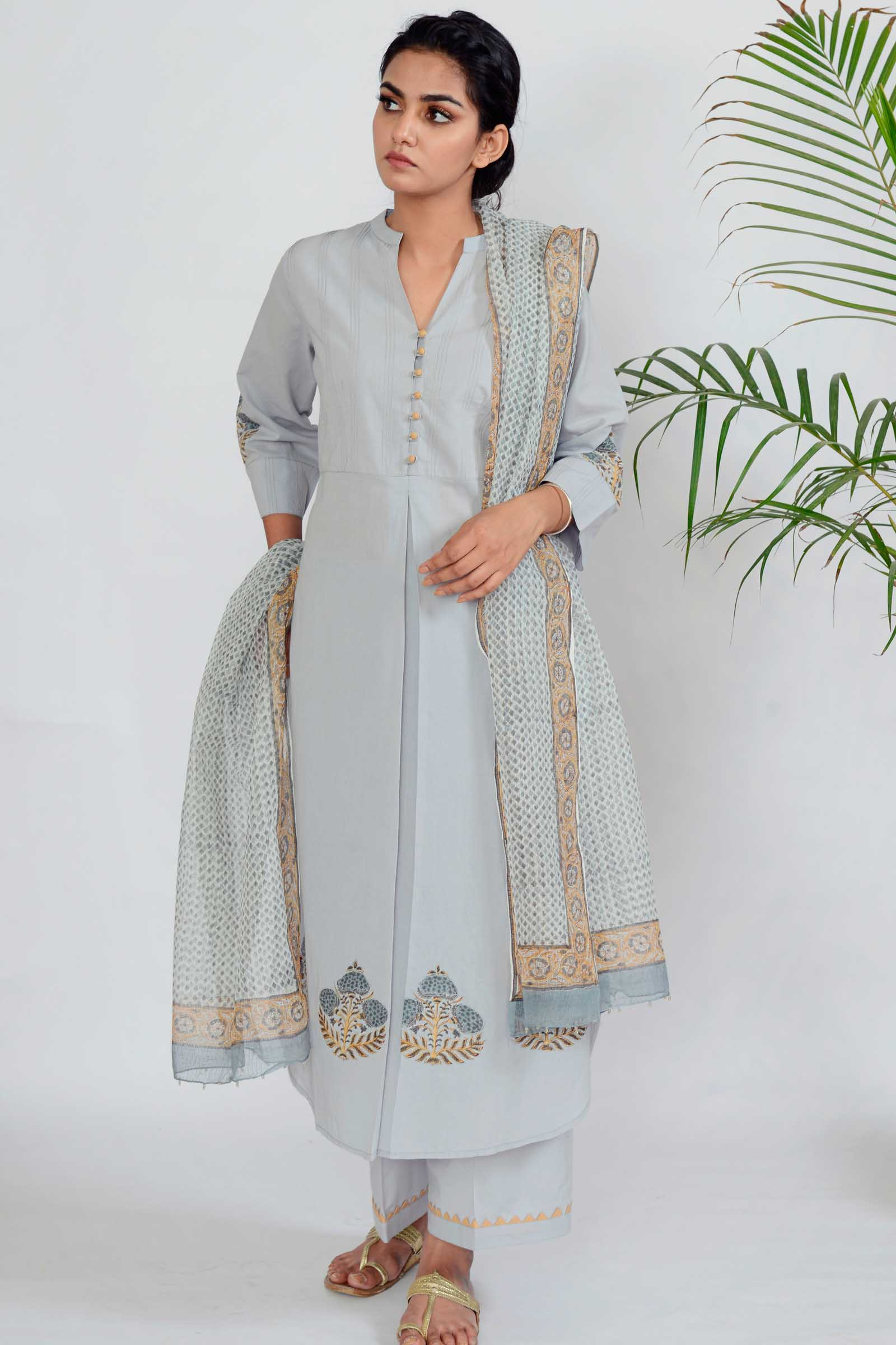 Moon Beam Cotton Kurta
