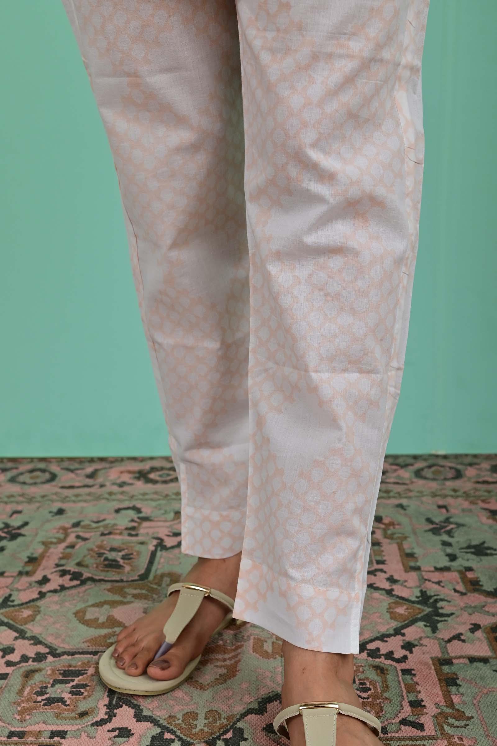 Mughal Jaali Cotton Cigarette Pant