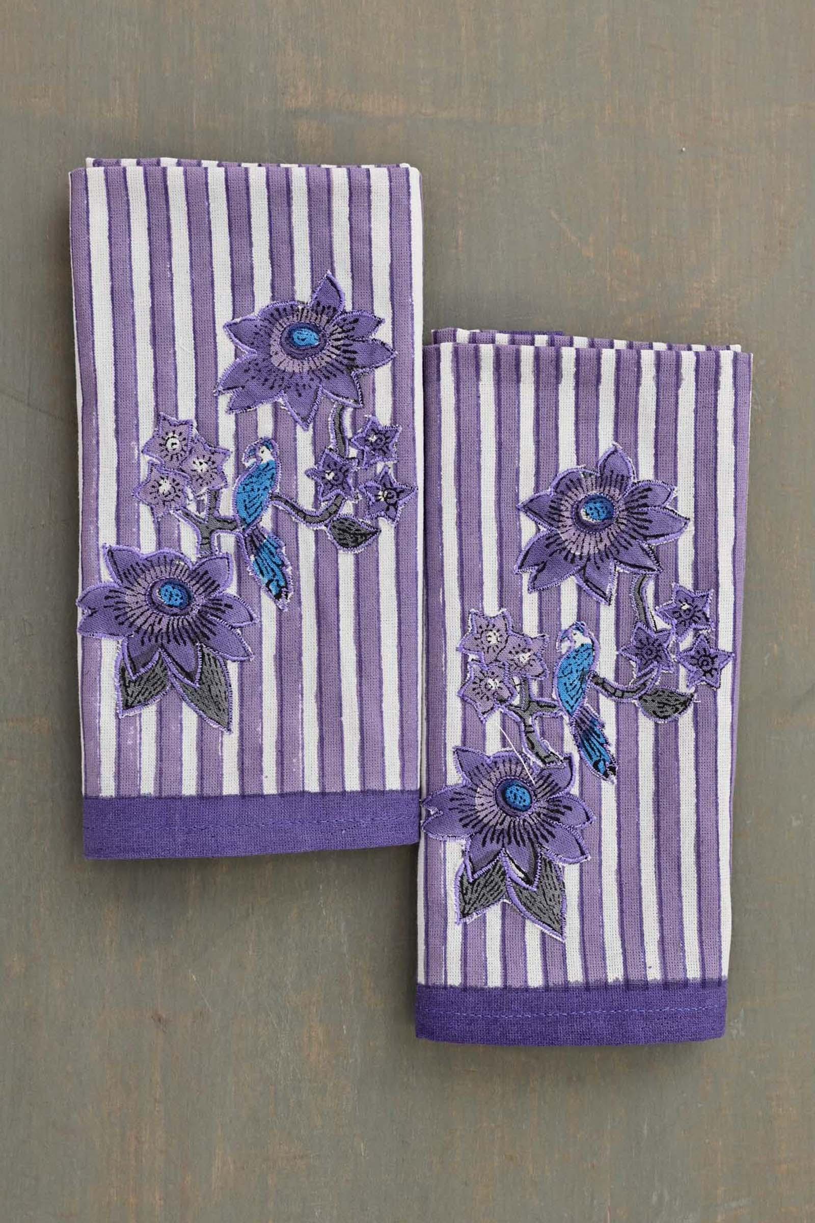 Artistic Lavender Napkin Set Of 6