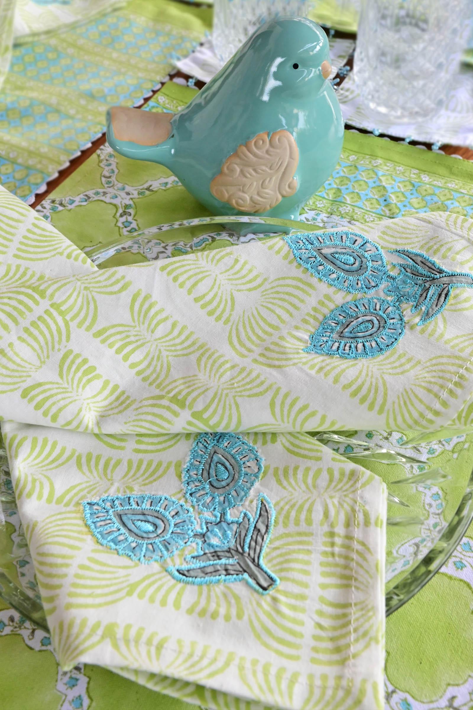Greenery Napkin Set Of