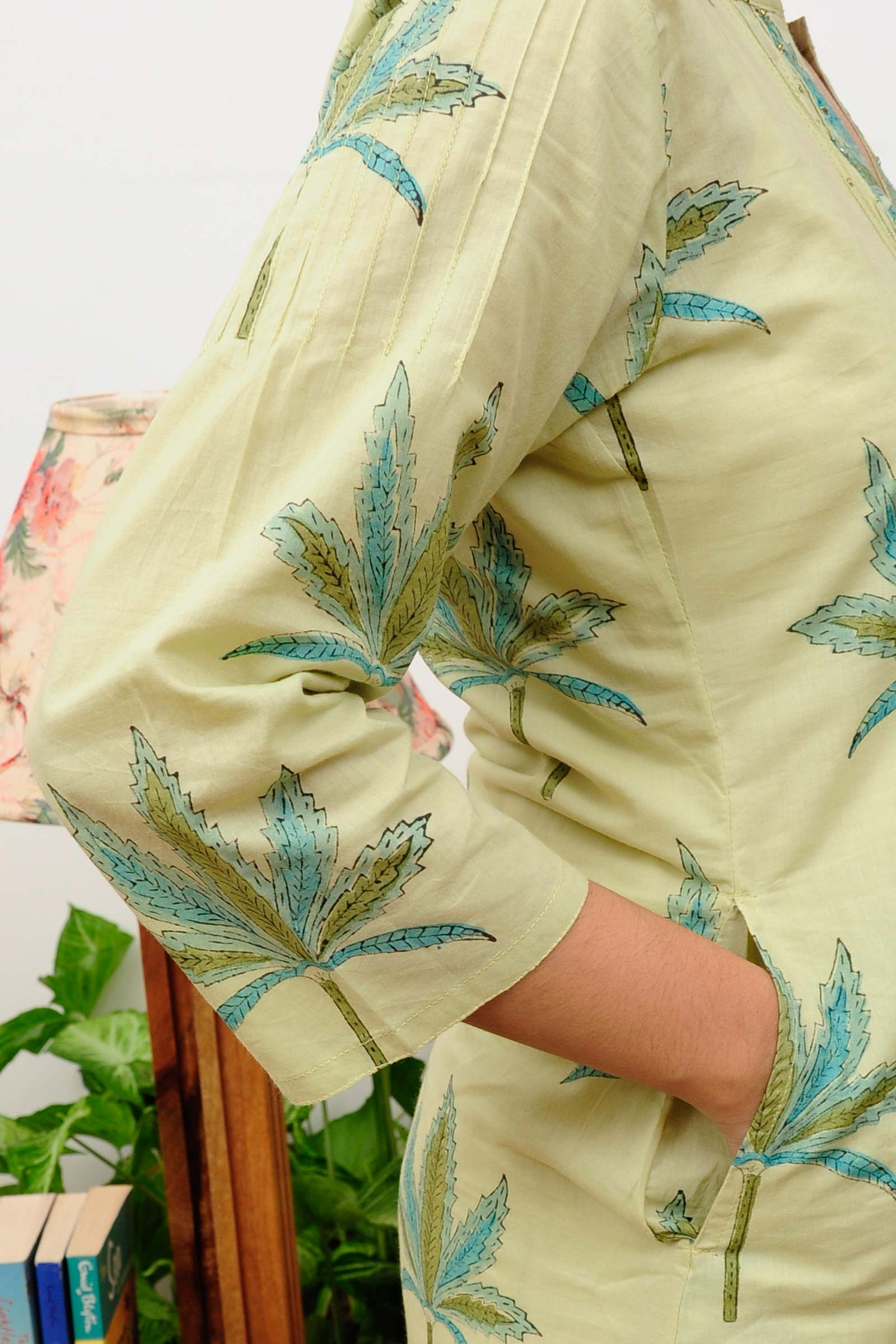Palm Leaf Kurta