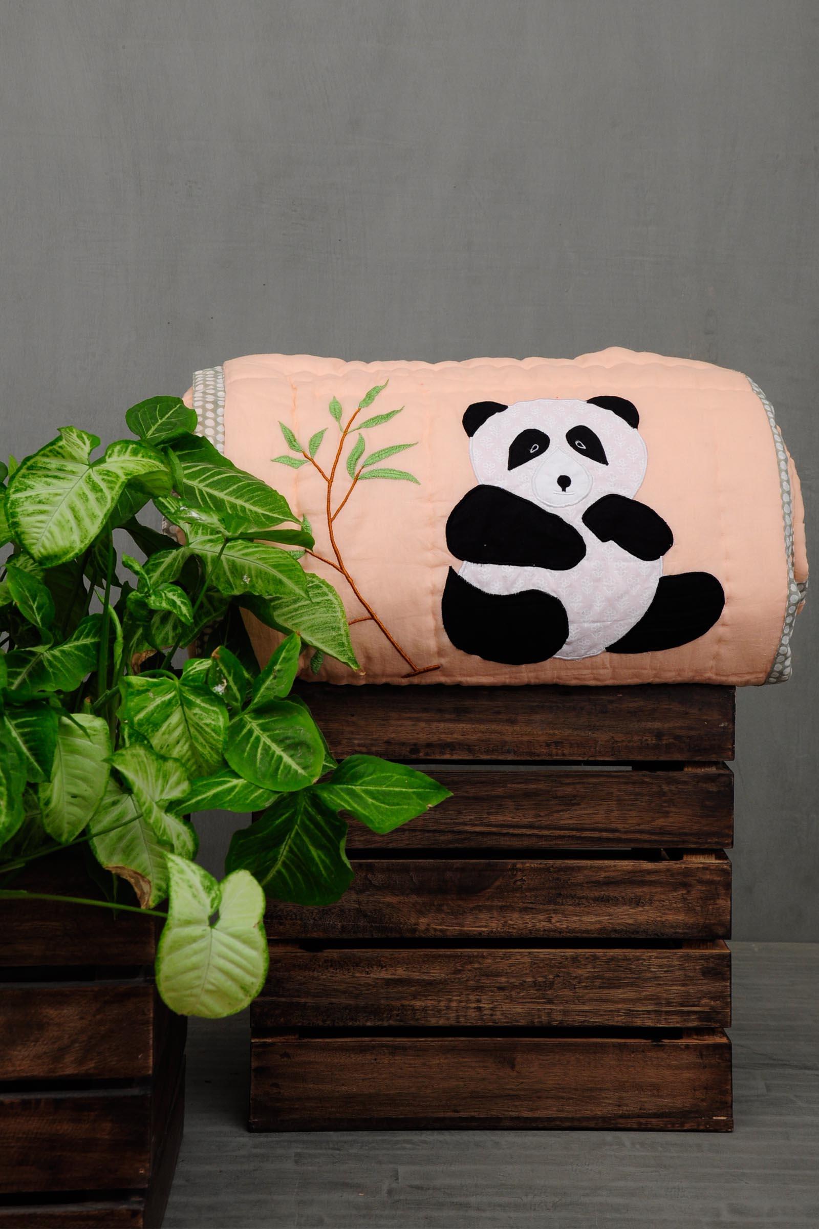 Black Panda Quilt
