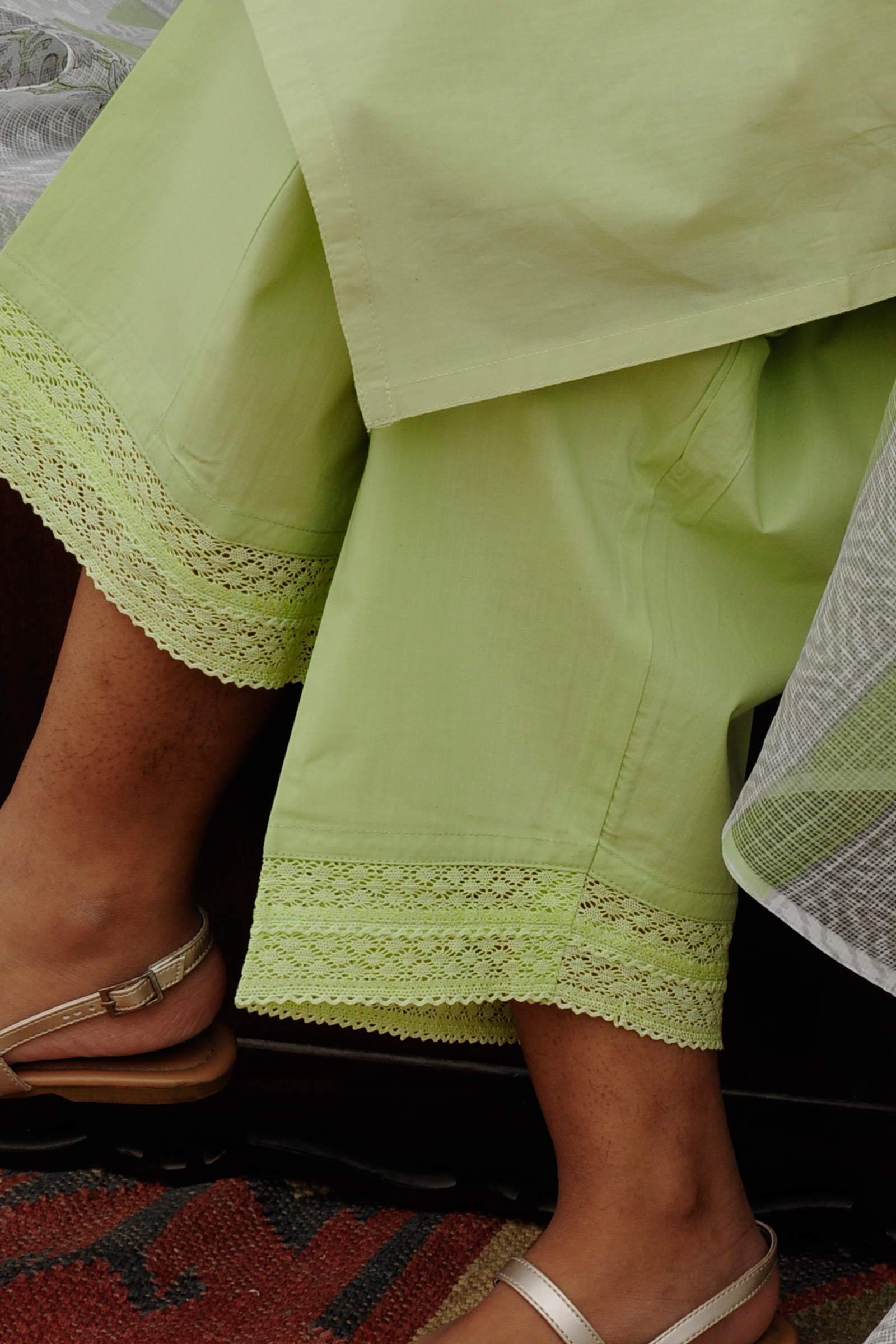 Bamboo Green Waist Pants