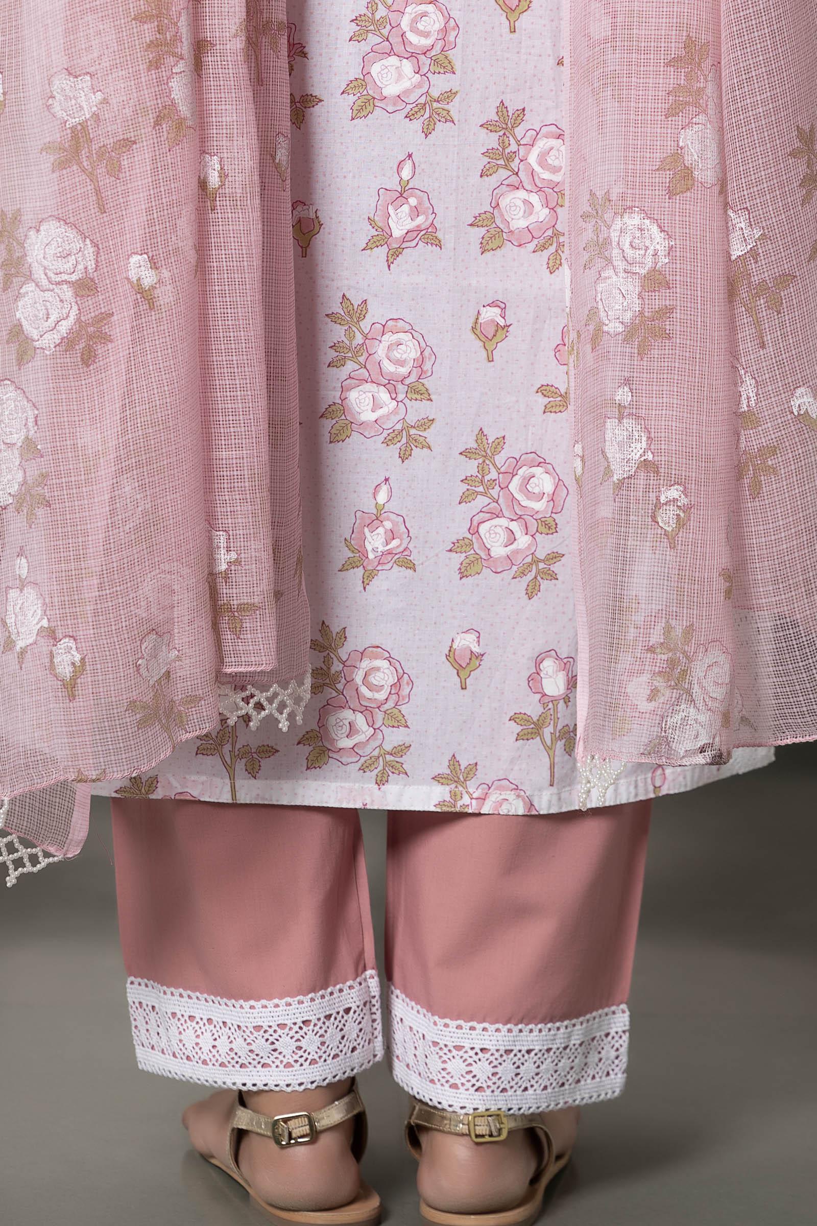 British Rose Cotton Cigarette Pant