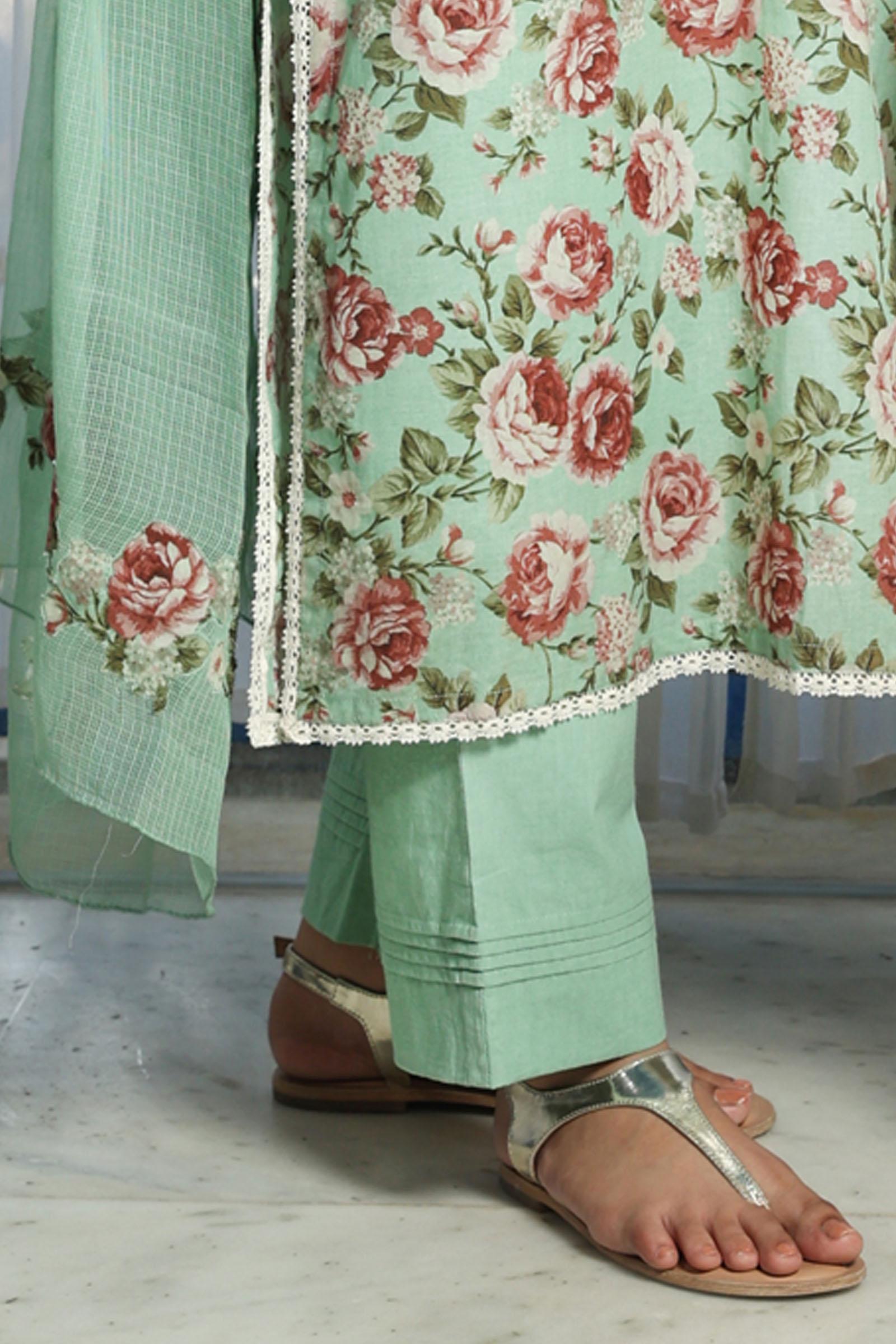 Chantilly Rose Cotton Cigarette Pant