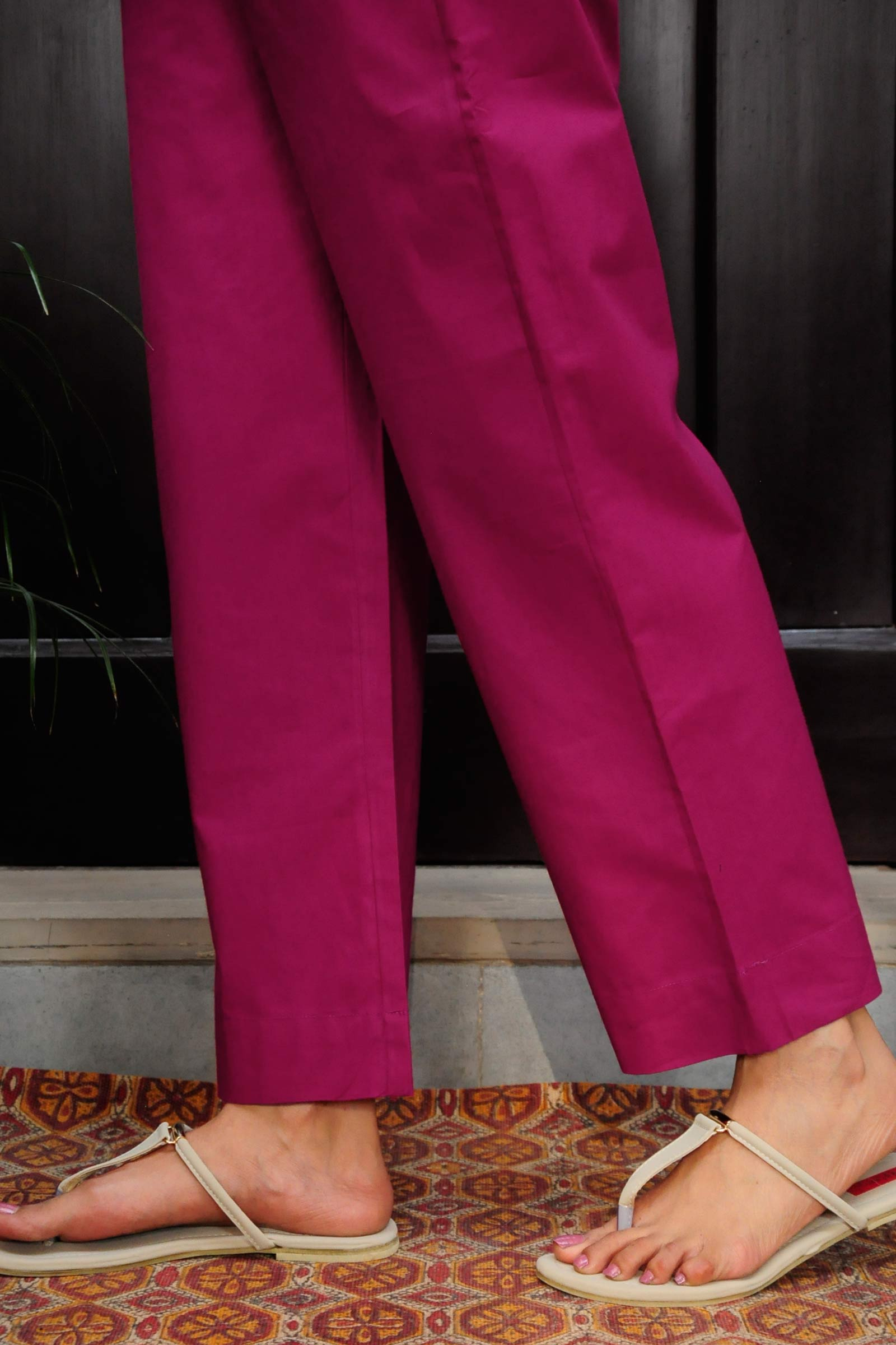 Hot Pink Cigarette Pant