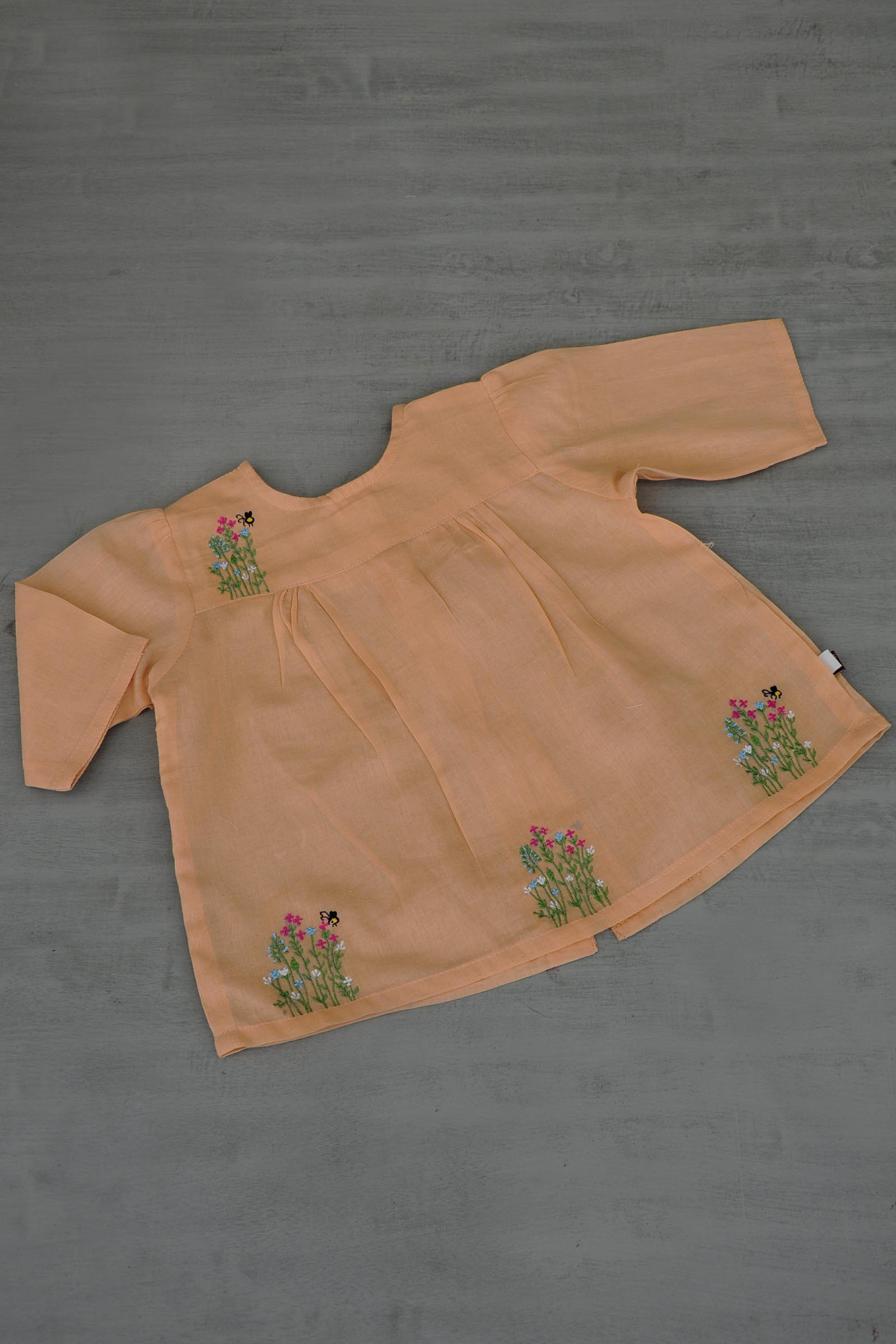 Peach baby Frock