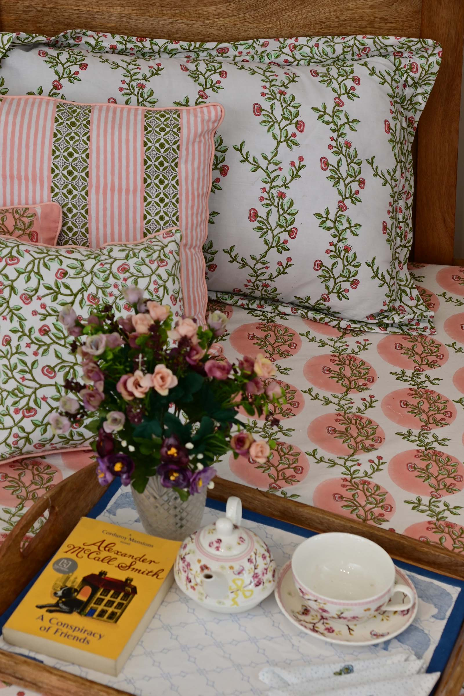 Blooming Trail Pillow Cover