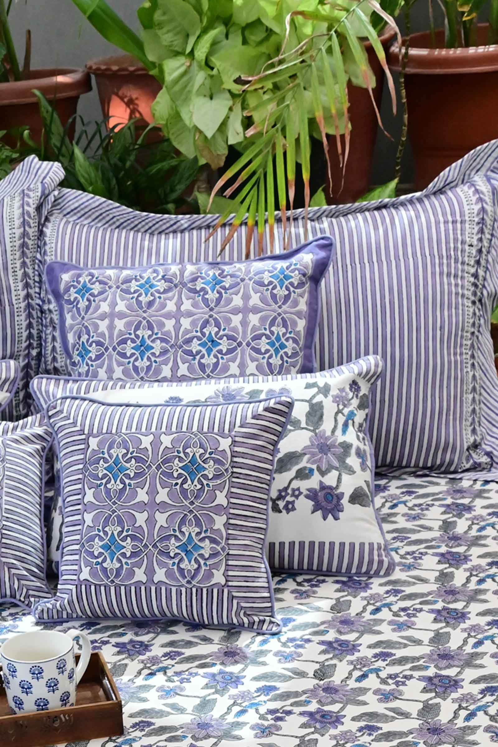 Artistic Lavender Pillow Cover Set Of 2