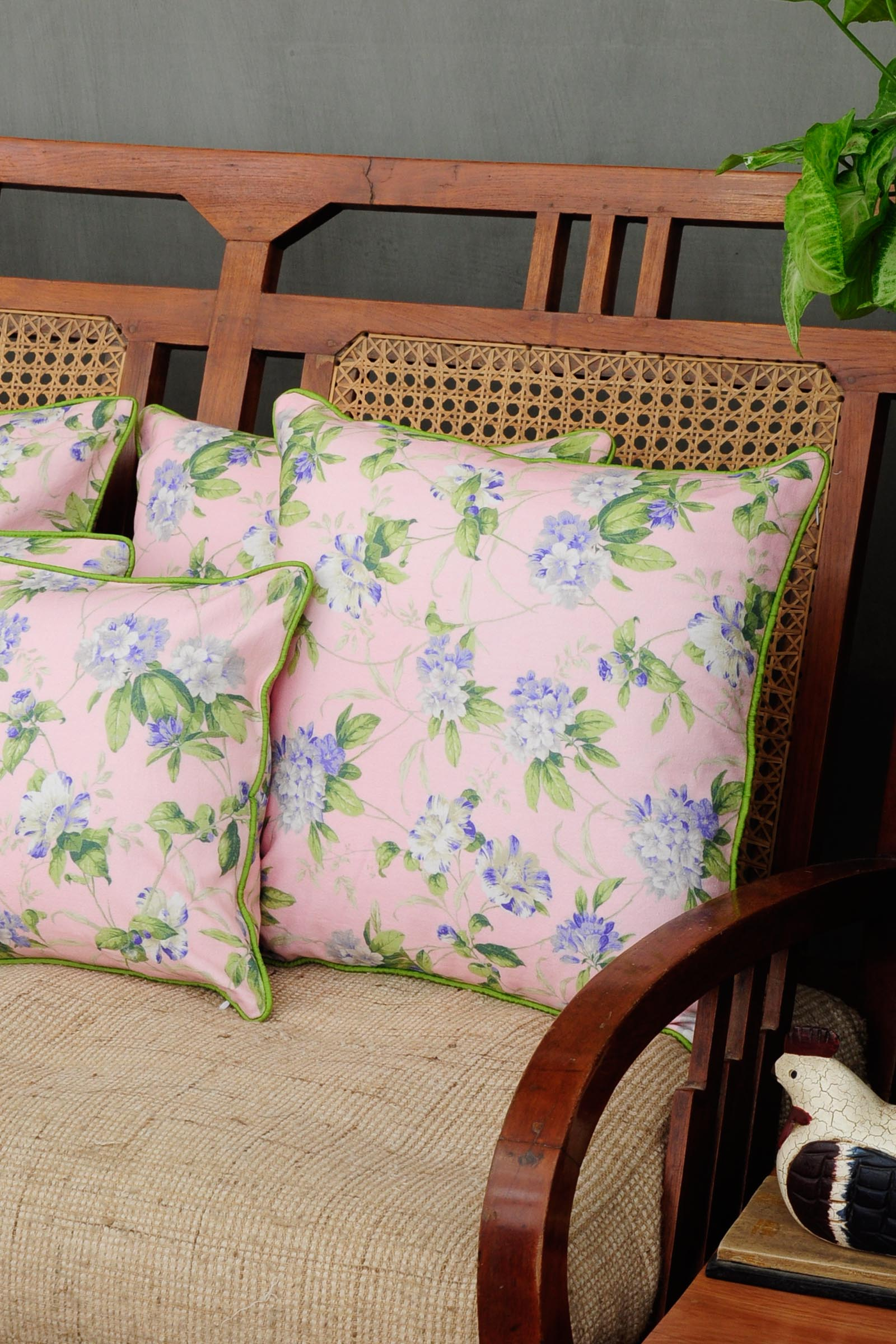 Chintz Blackcurrant Cushion Cover