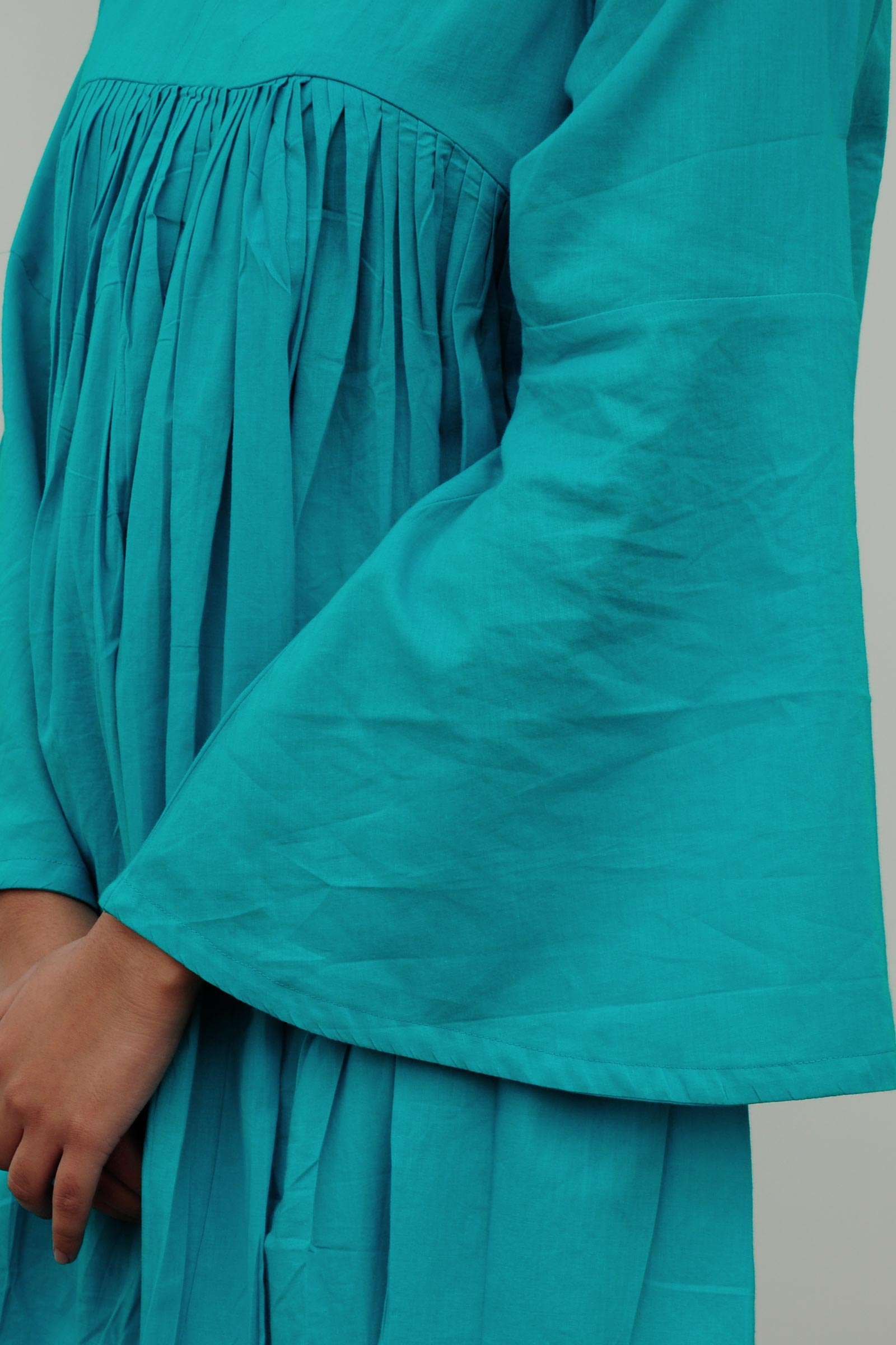 Pleated Turquoise Tunic
