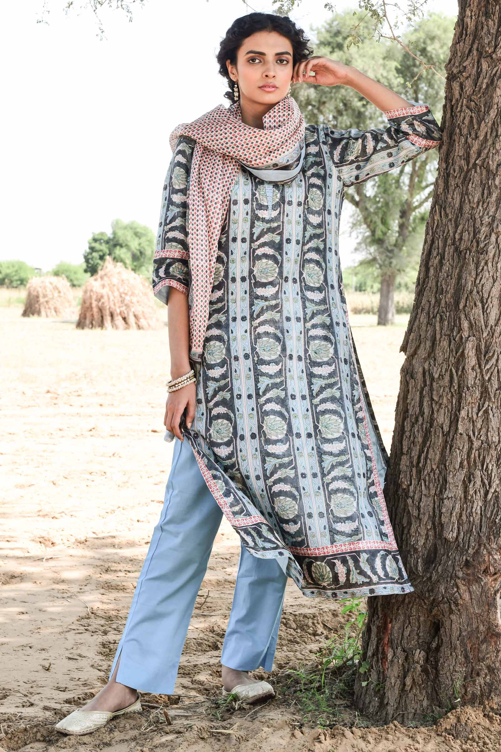 Power Dressing Silk Kurta