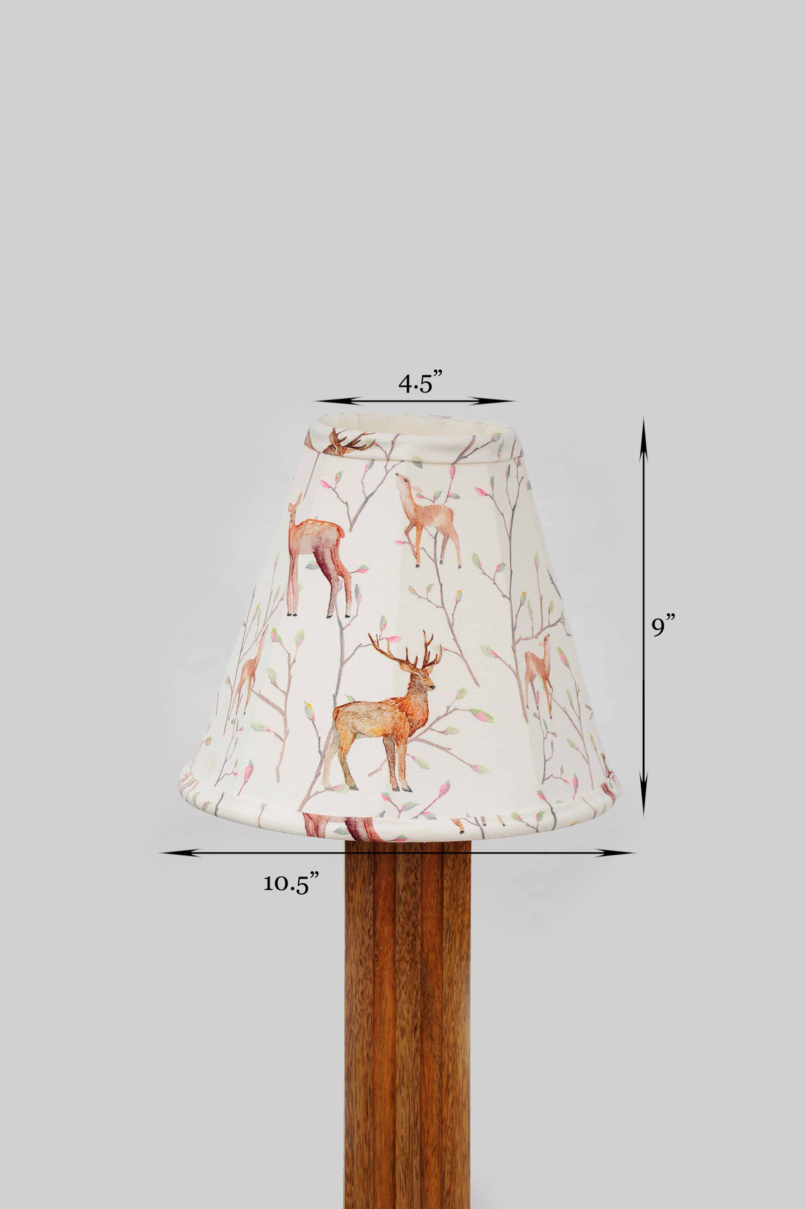 Red stag lamp shade