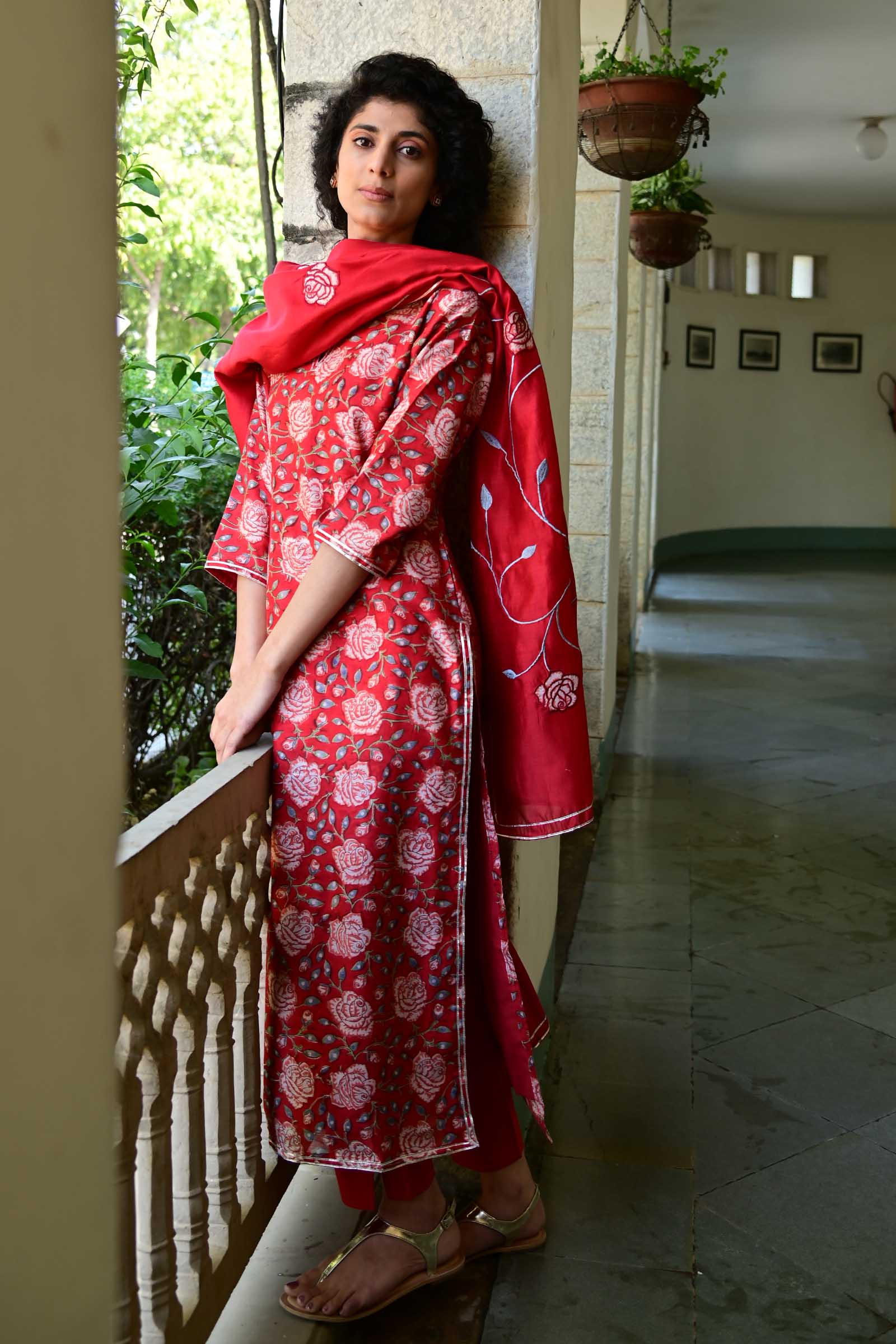Scarlet Dream Chanderi Kurta