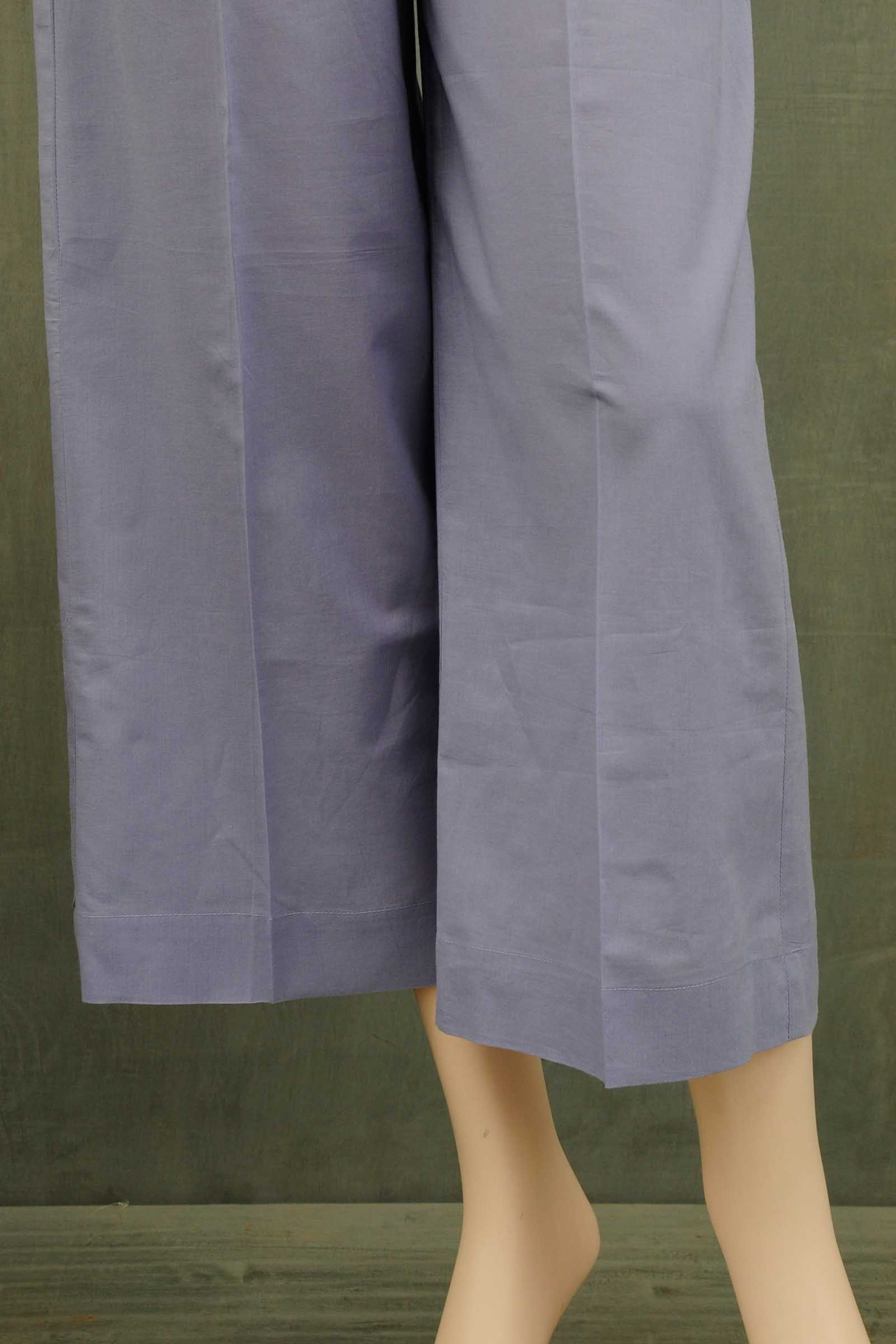 Smokey Blue Gota Cotton Patti