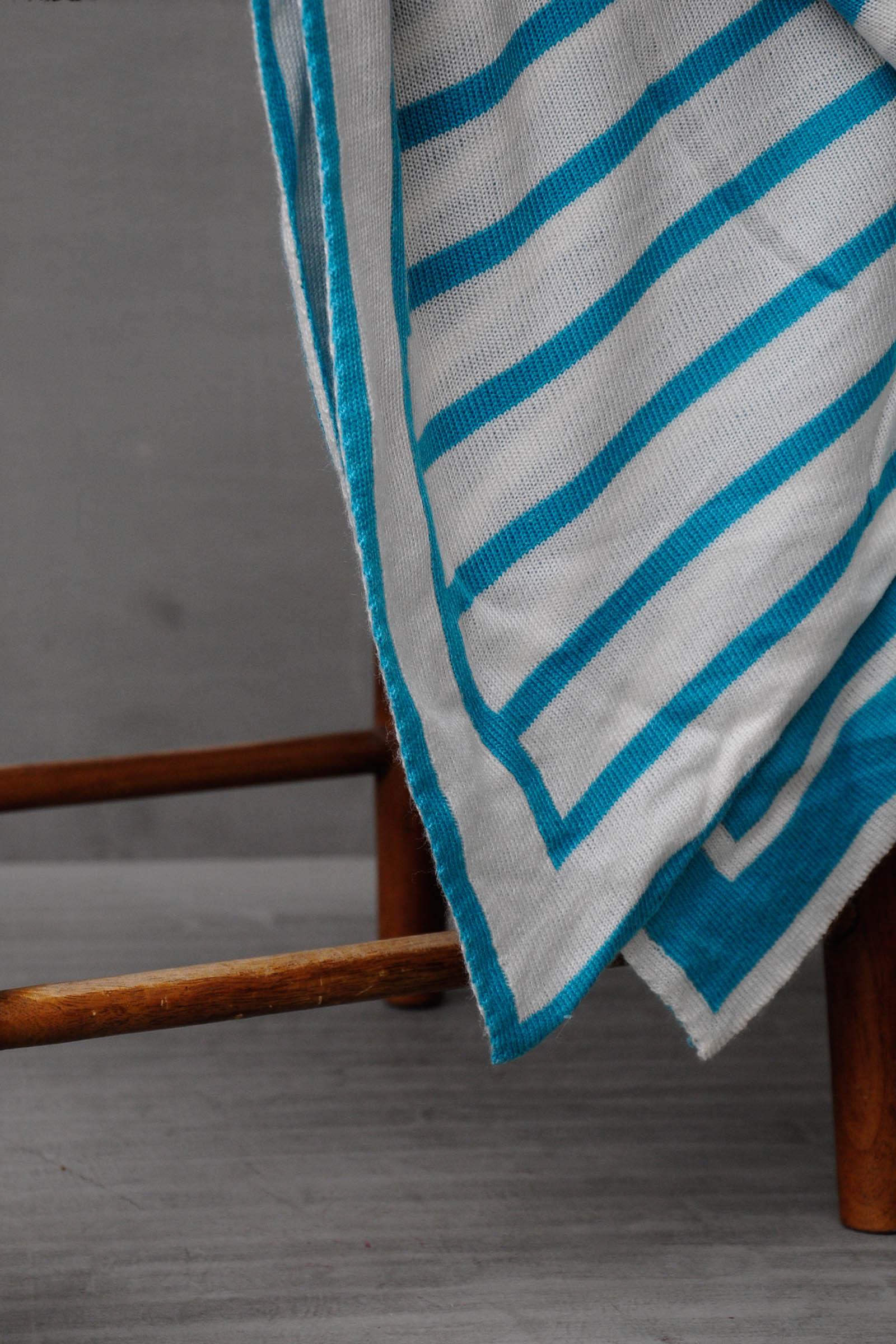 Woven Blue Blanket
