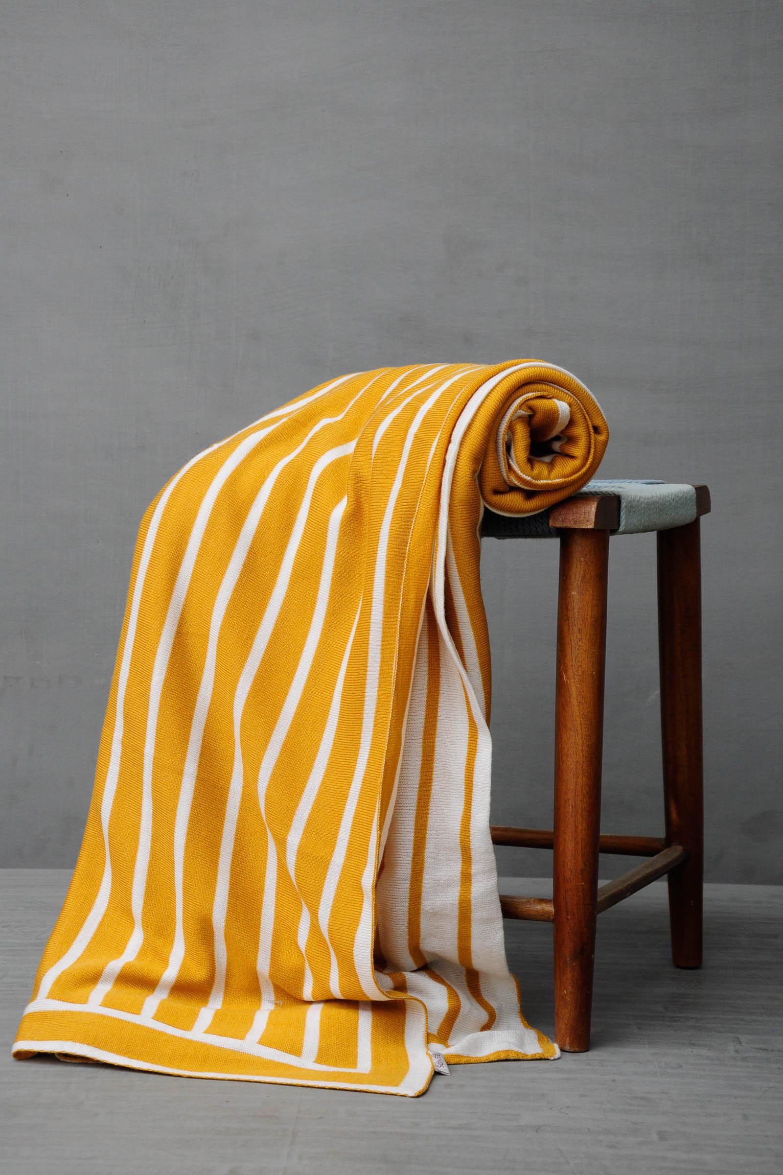 Woven Yellow Blanket
