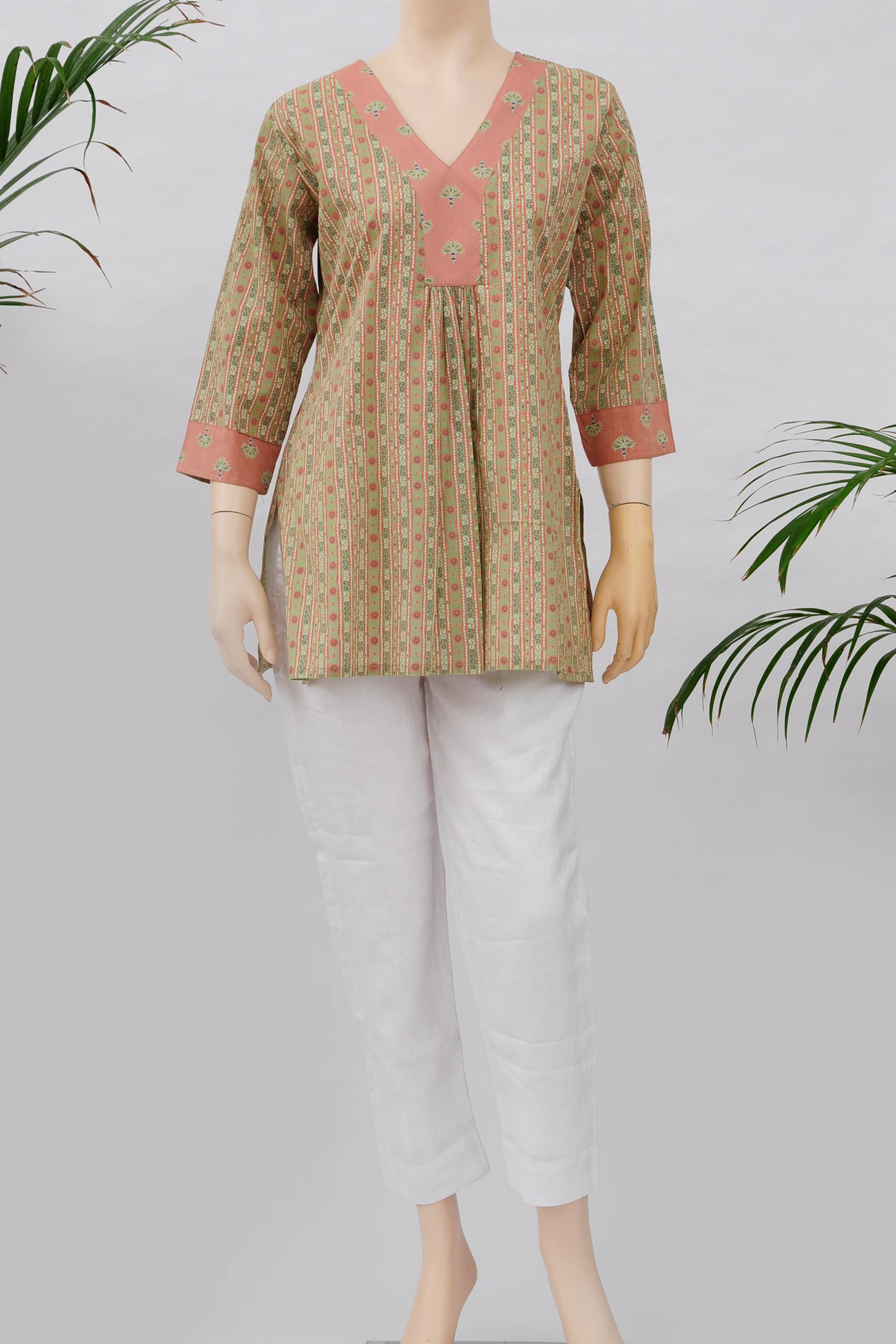 Tropical peach tunic