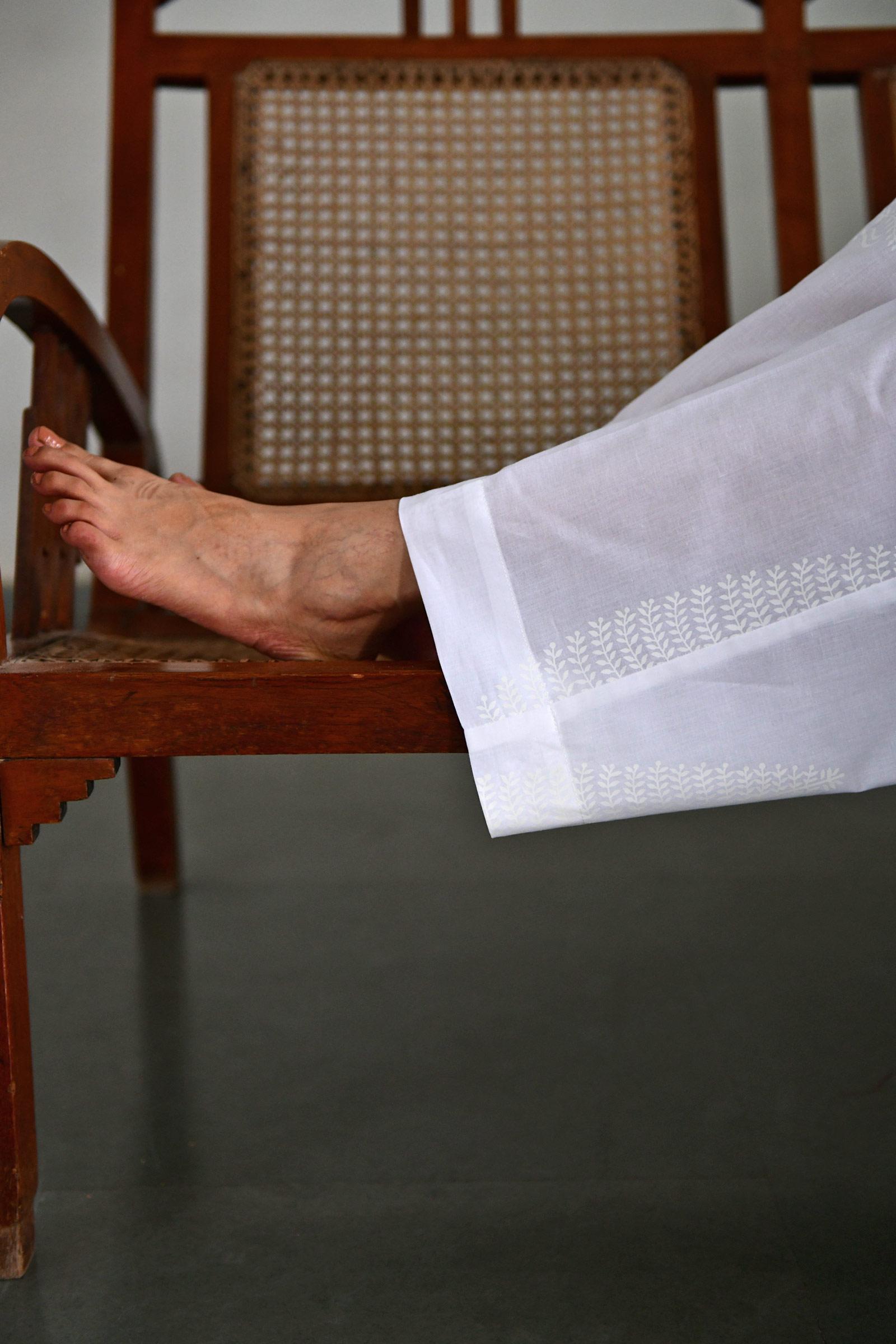 White On White Waist Pant