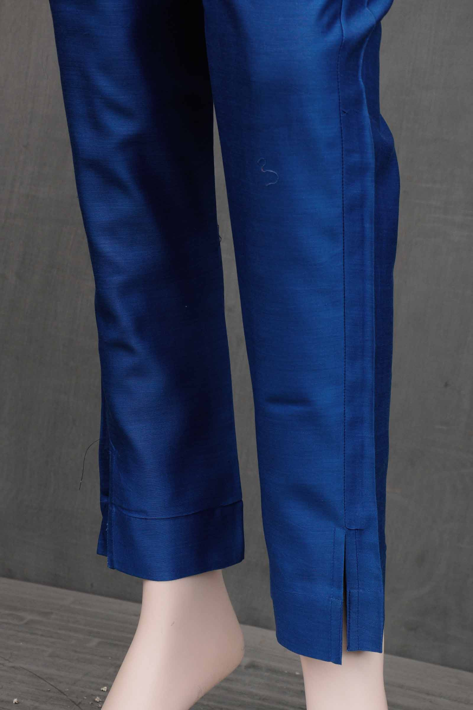 Wild Blue Chanderi Cigarette Pant