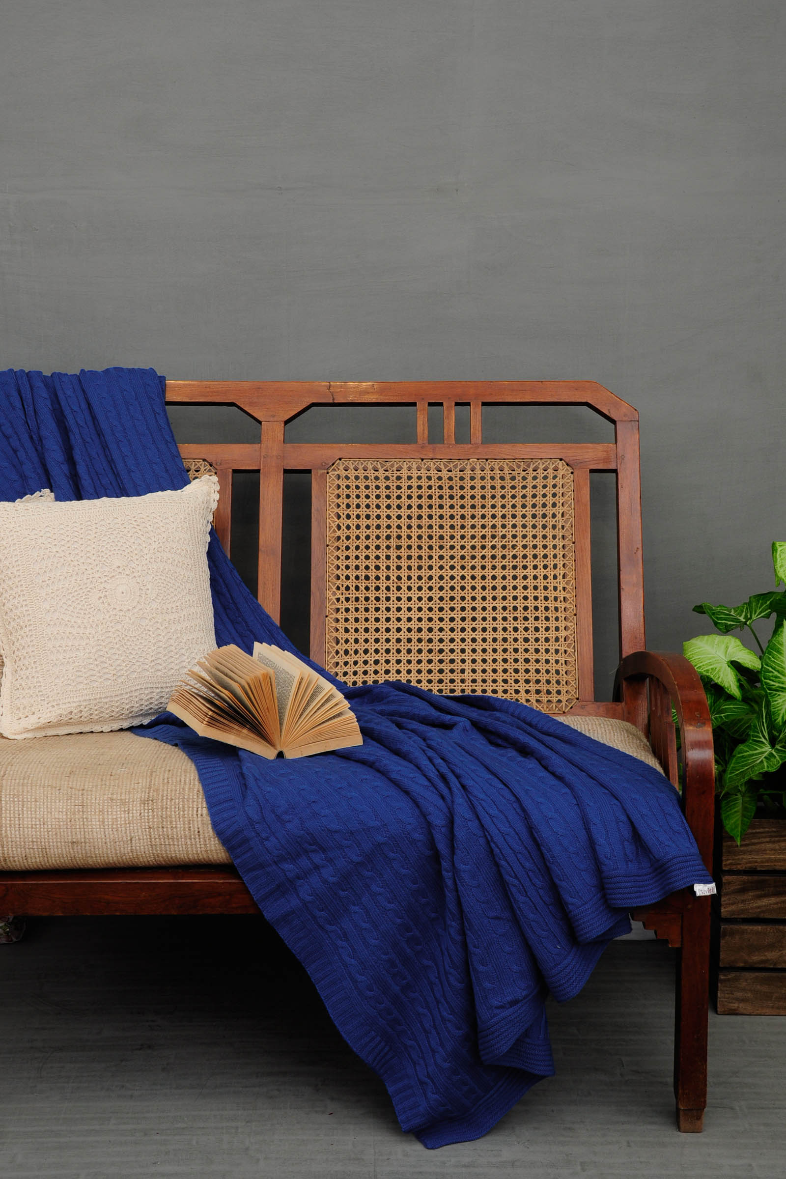 Woolen Throws Indigo