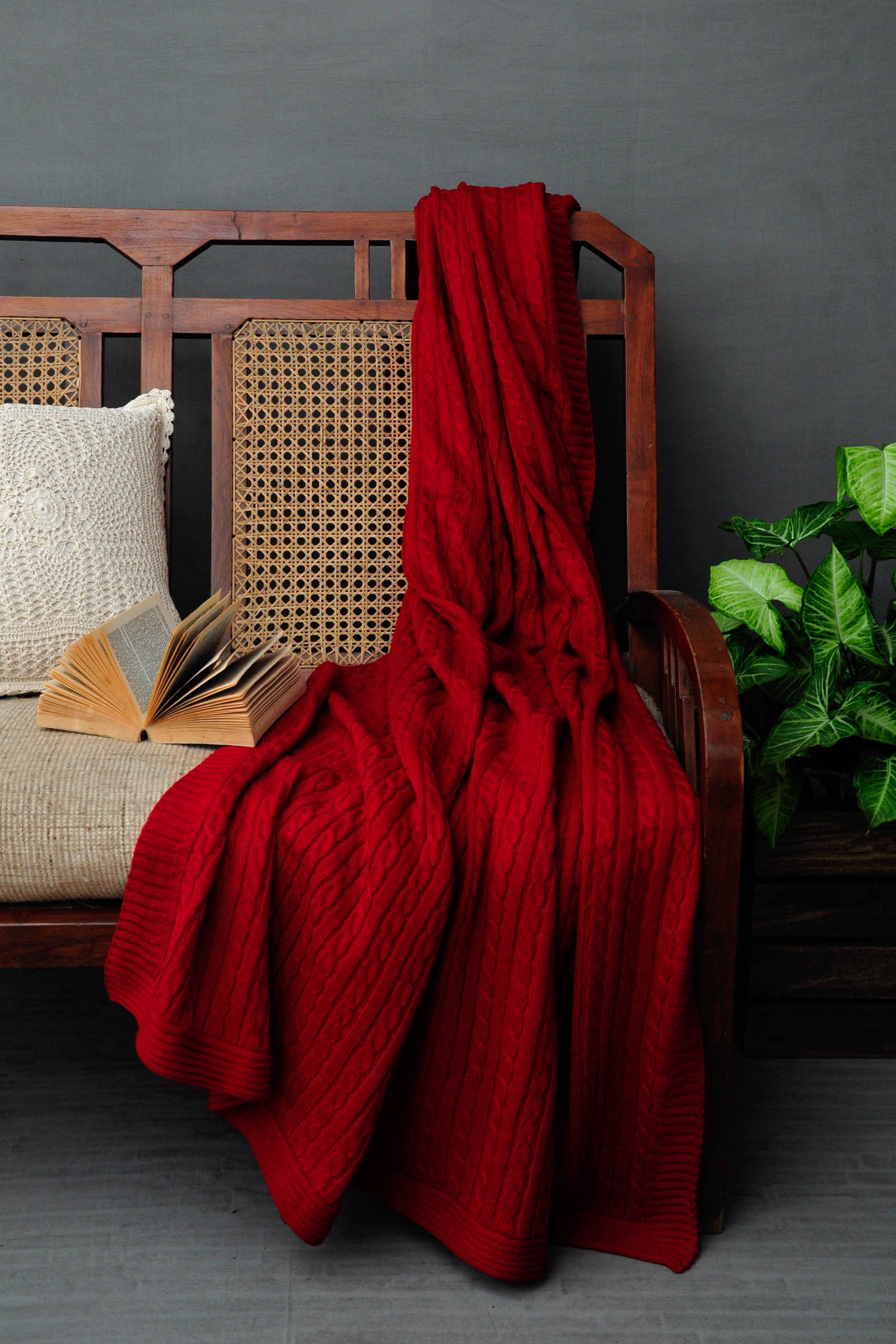 Woolen Throws Red