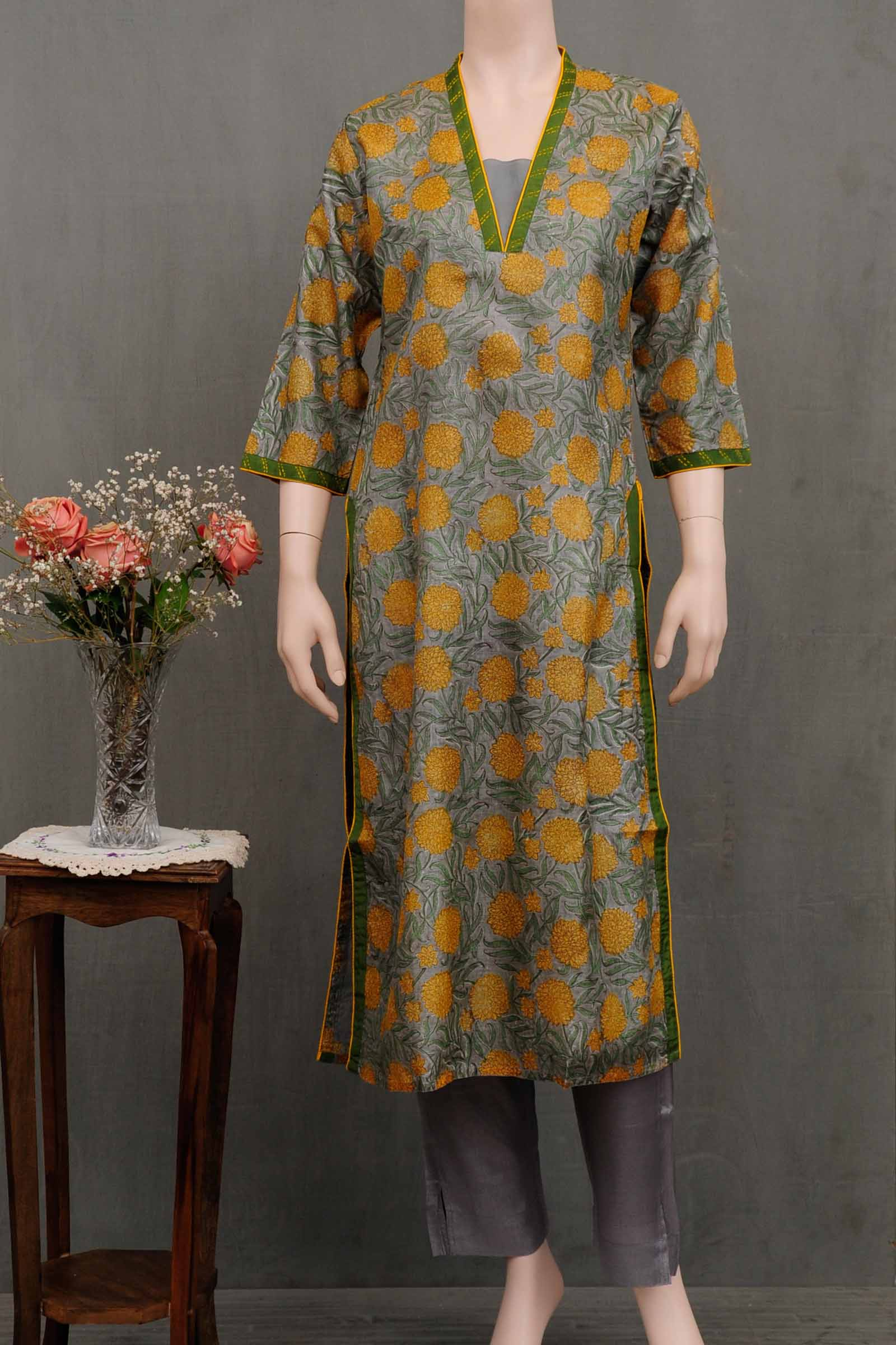 Yellow Masti Silk Kurta